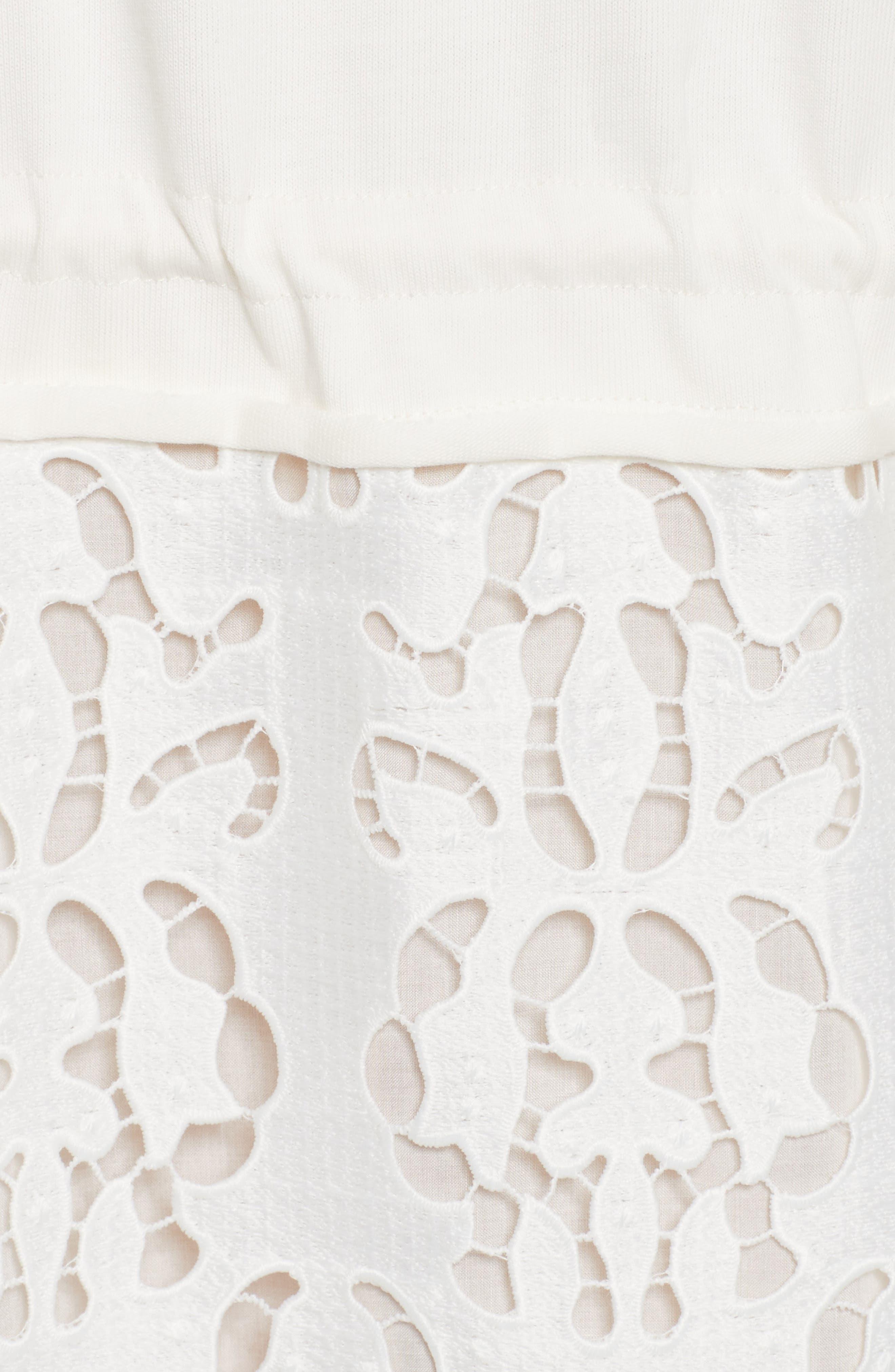 Alternate Image 5  - See by Chloé Lace Skirt Sweatshirt Dress