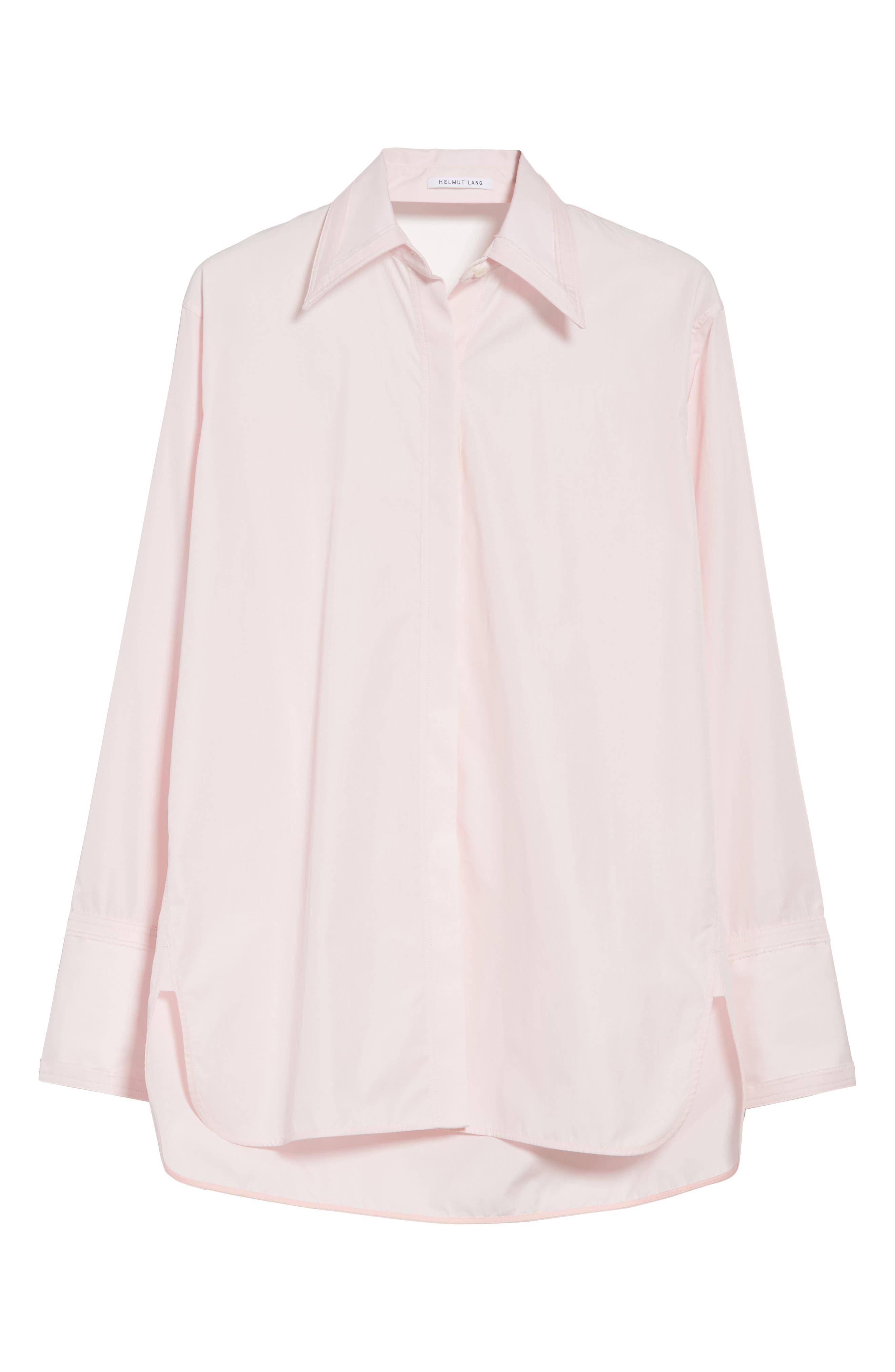 Alternate Image 6  - Helmut Lang Cutout Cotton Poplin Shirt