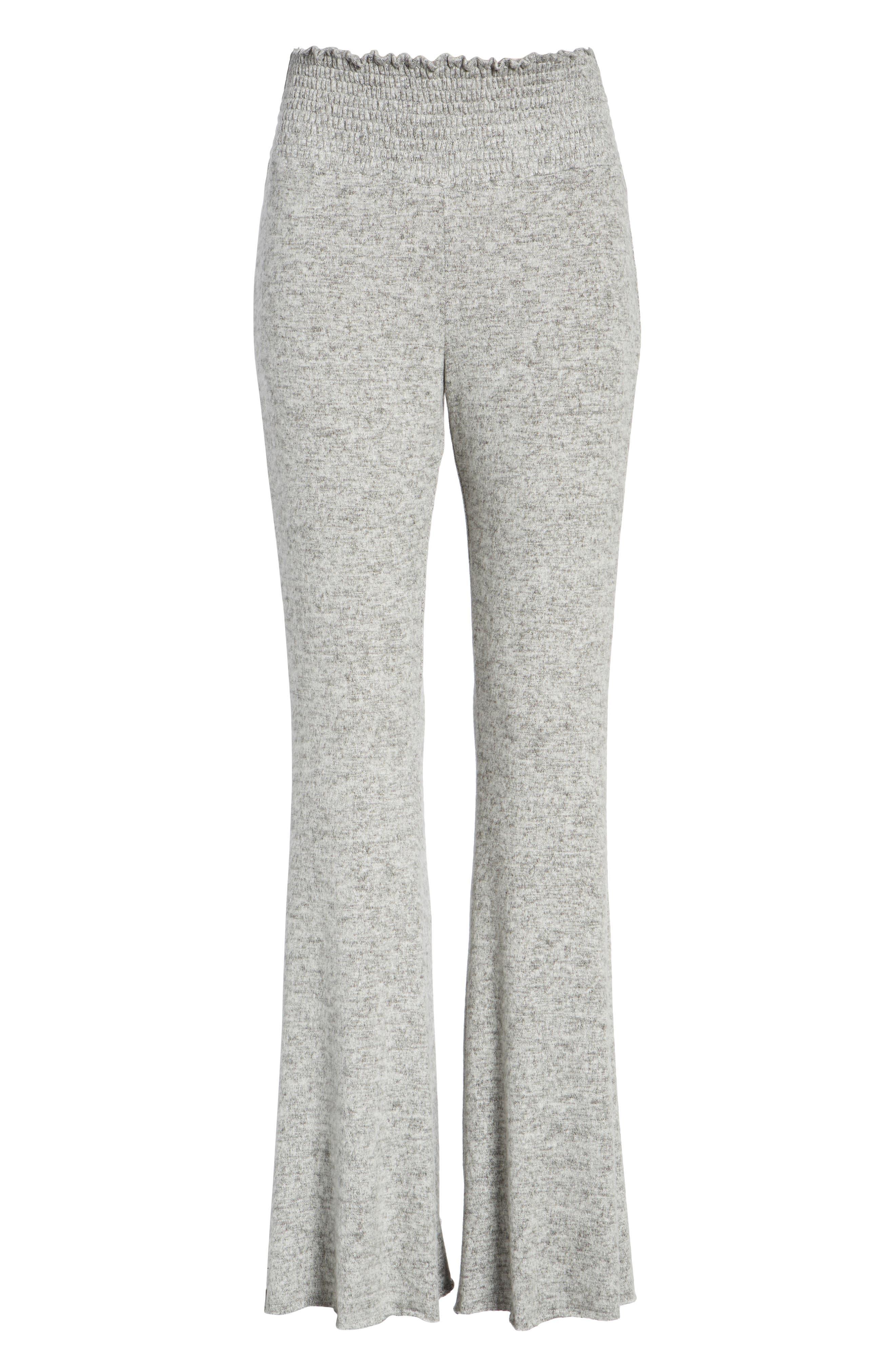 Alternate Image 6  - Hinge Smocked Waist Flare Leg Sweatpants