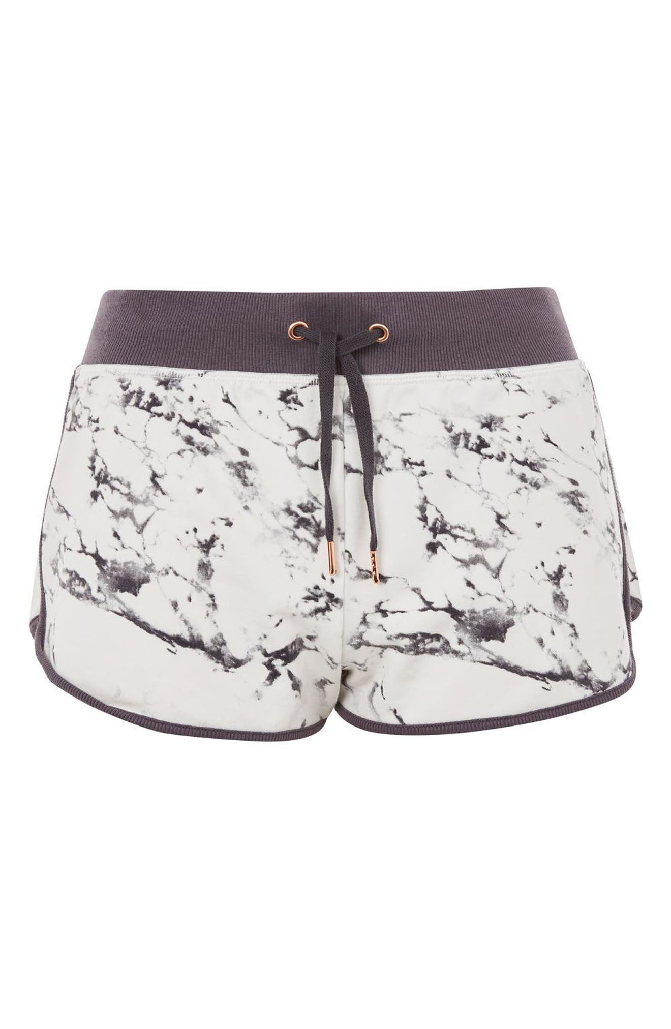 Marble Print Shorts,                         Main,                         color, Grey Multi
