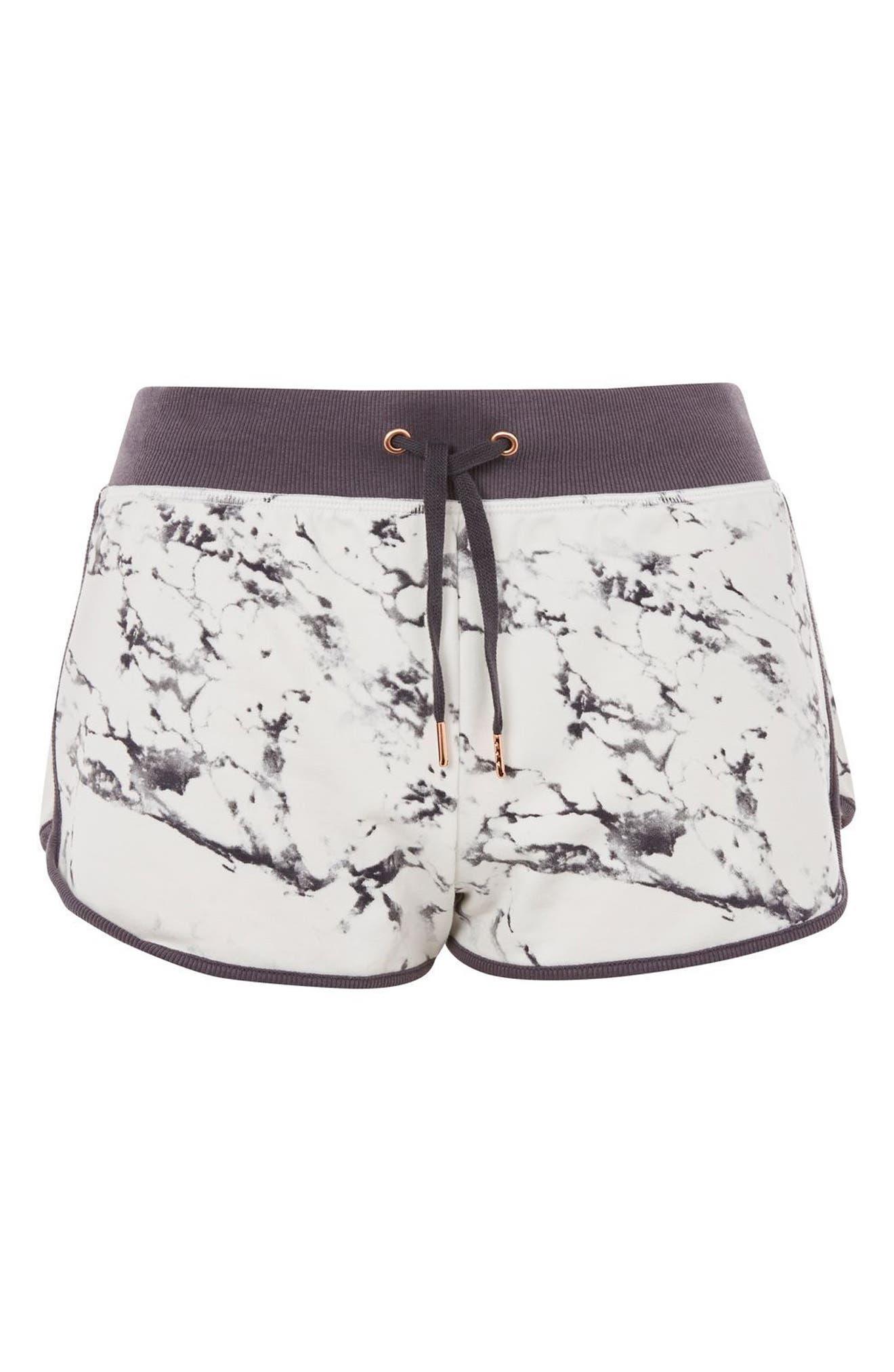 Topshop Marble Print Shorts
