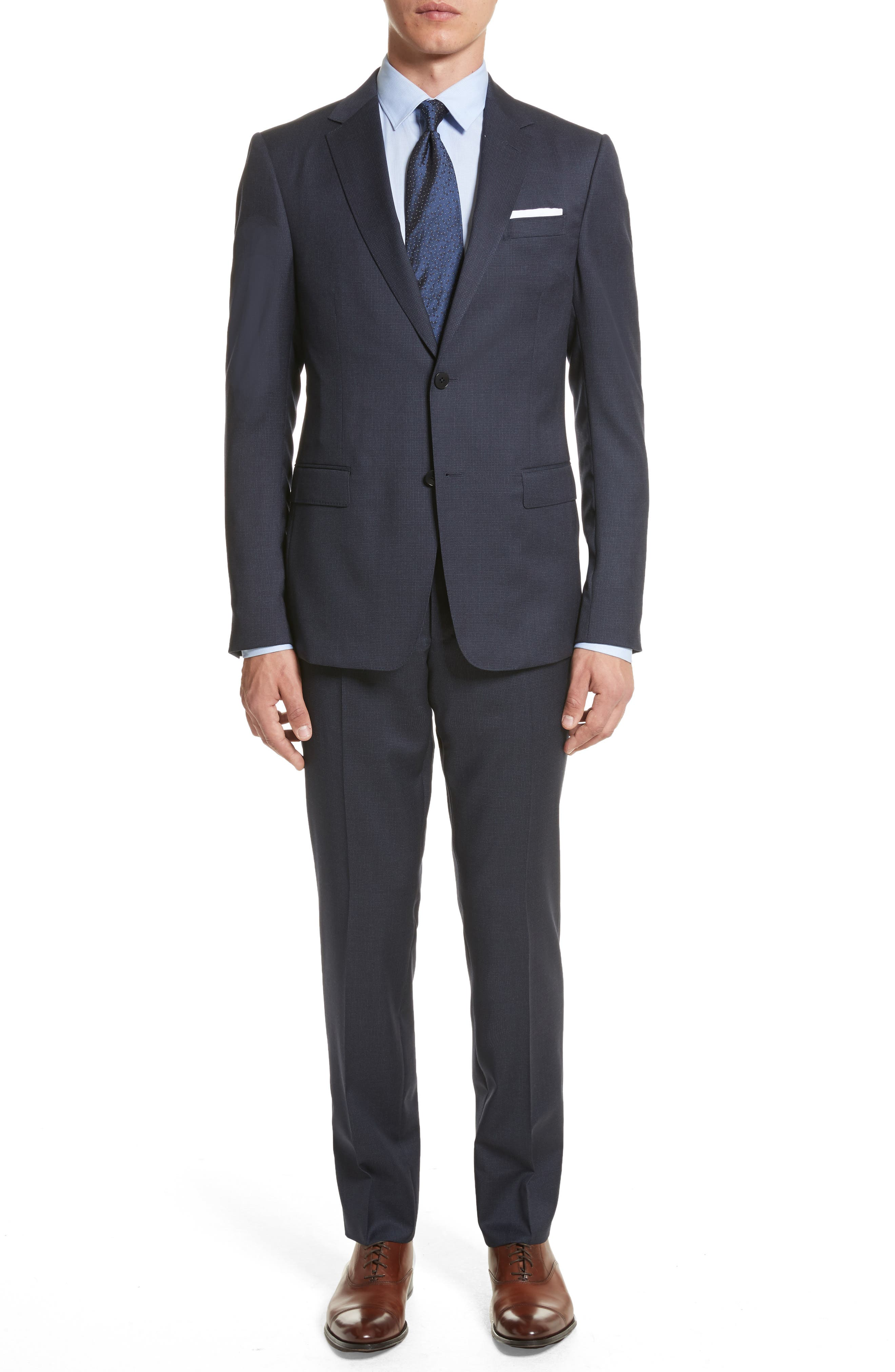 Classic Fit Wool Suit,                         Main,                         color, Navy Solid
