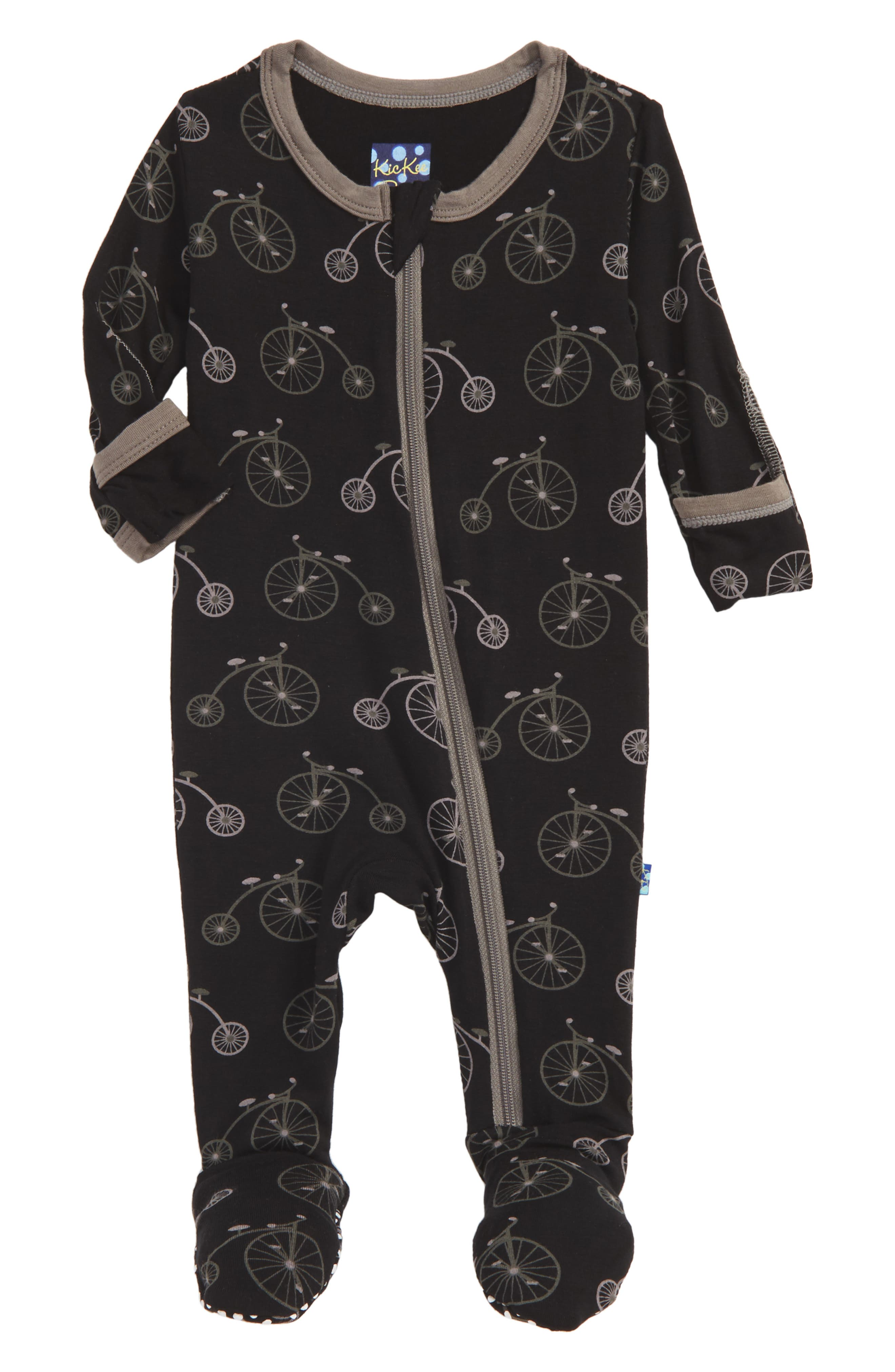 Kickee Pants Fitted One-Piece Footie Pajamas (Baby Boys)