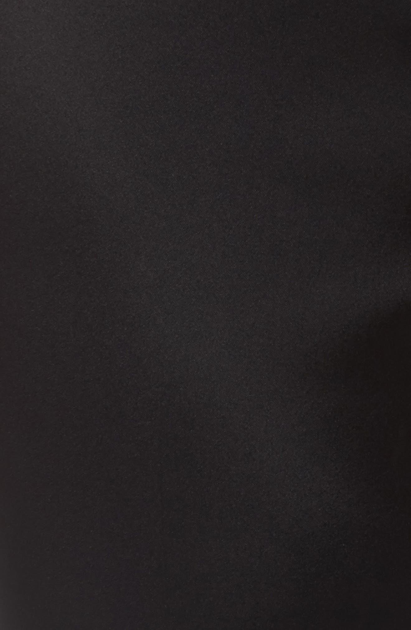 Stretch Satin Skinny Trousers,                             Alternate thumbnail 5, color,                             Black