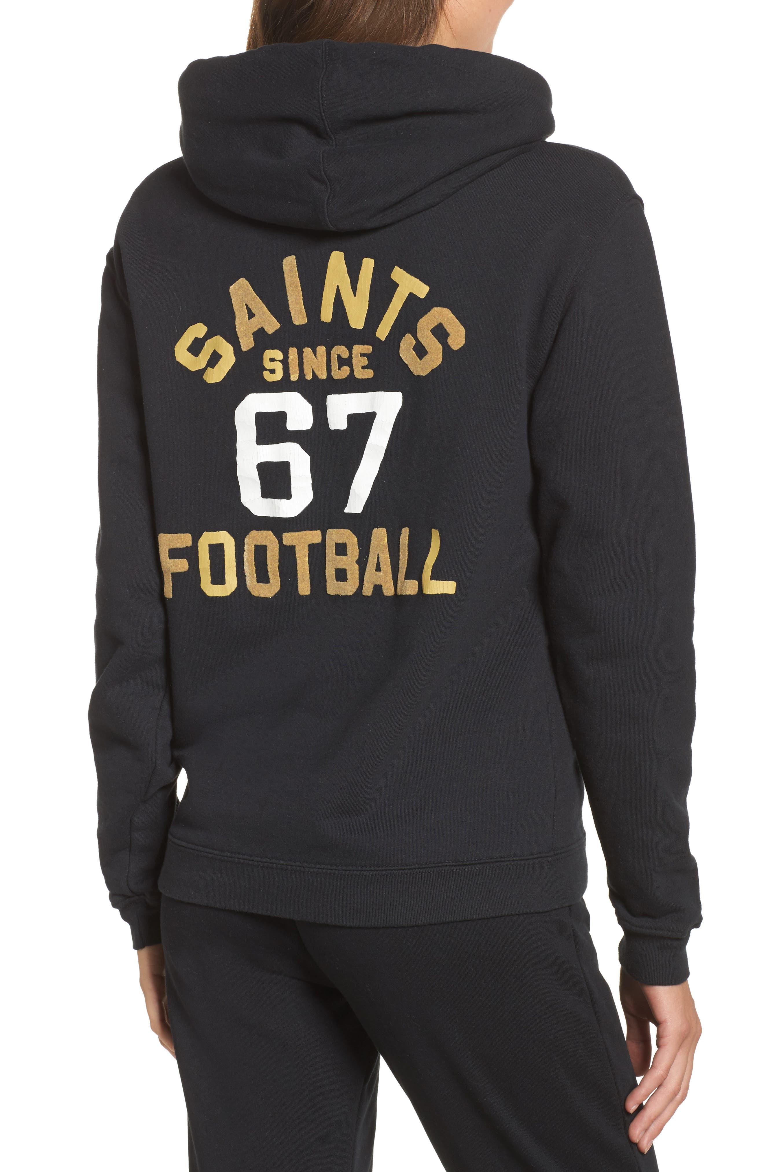NFL New Orleans Saints Sunday Hoodie,                             Alternate thumbnail 2, color,                             True Black