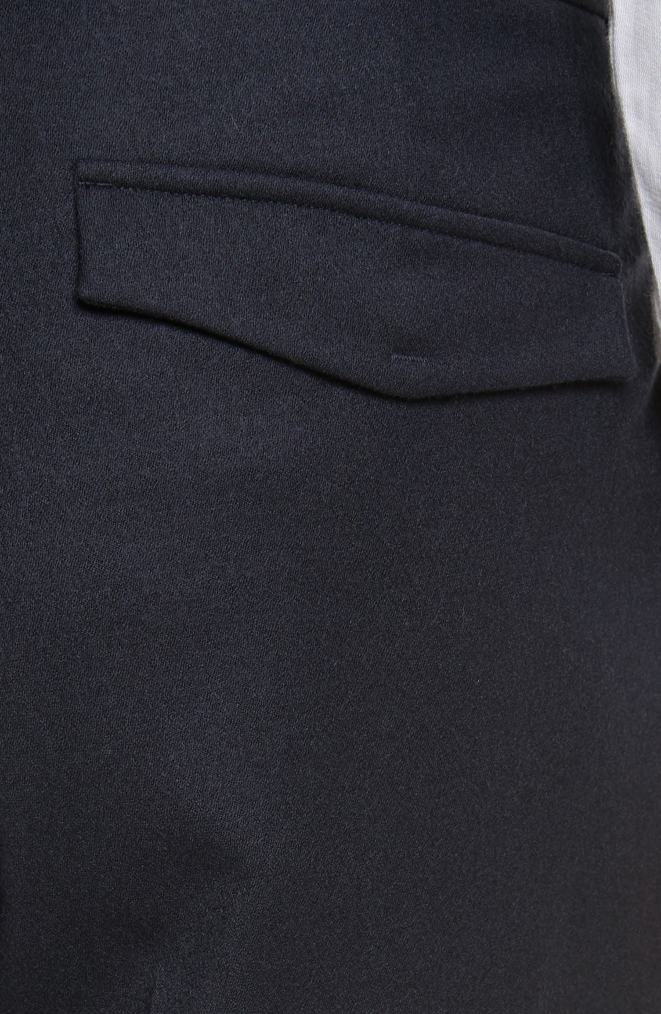 Regular Fit Wool Cargo Trousers,                             Alternate thumbnail 5, color,                             Navy Solid
