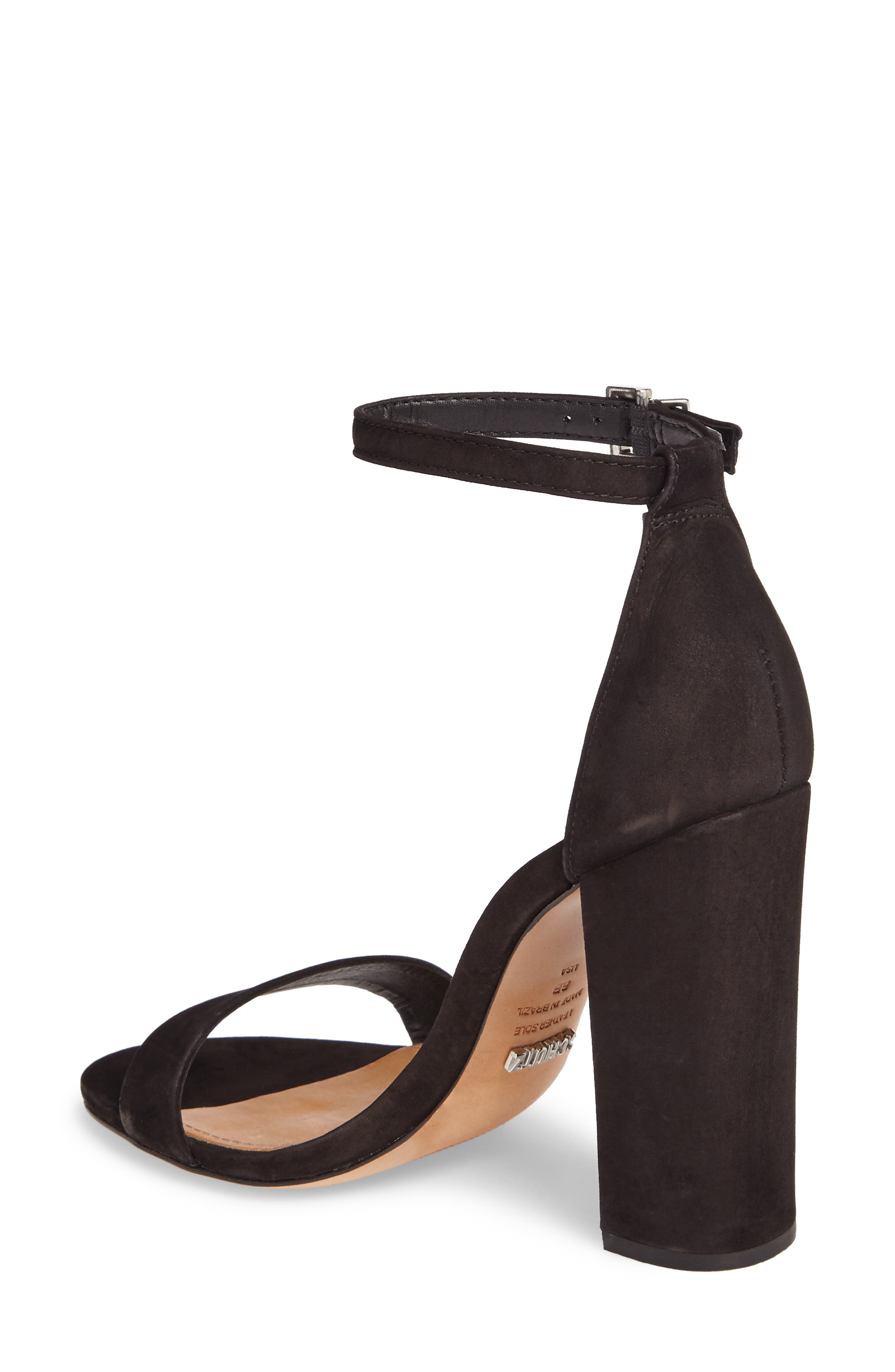 Enida Strappy Sandal,                             Alternate thumbnail 2, color,                             Black Nubuck Leather