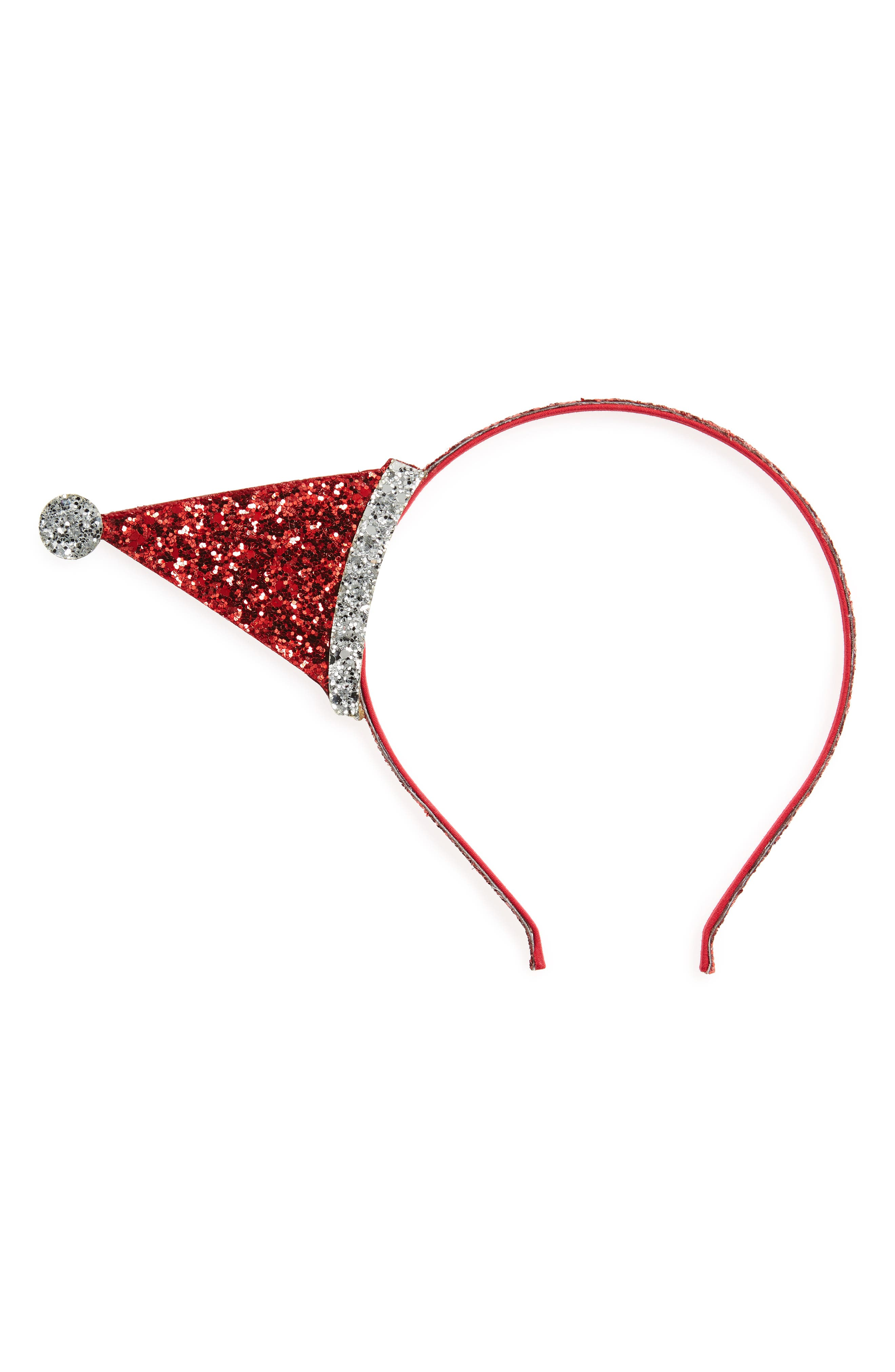 Christmas Dazzle Headband,                         Main,                         color, Red