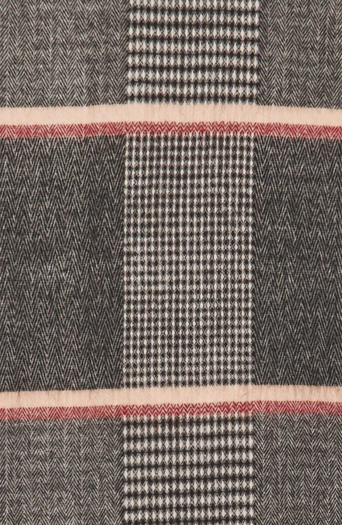 Pinstripe Scarf,                             Alternate thumbnail 3, color,                             Black/ Tan