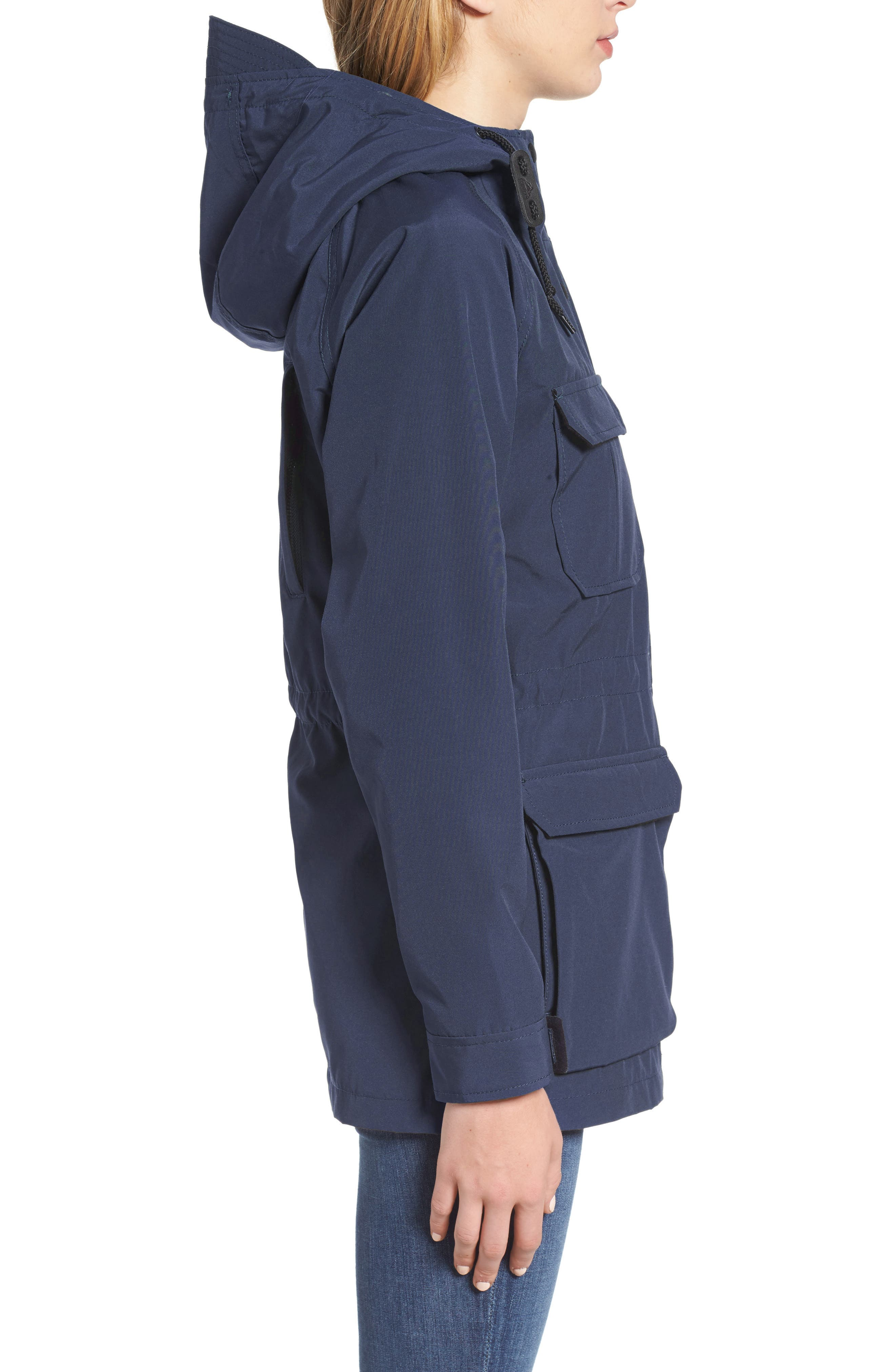 'Kasson' Double Layer Mountain Parka,                             Alternate thumbnail 3, color,                             Navy