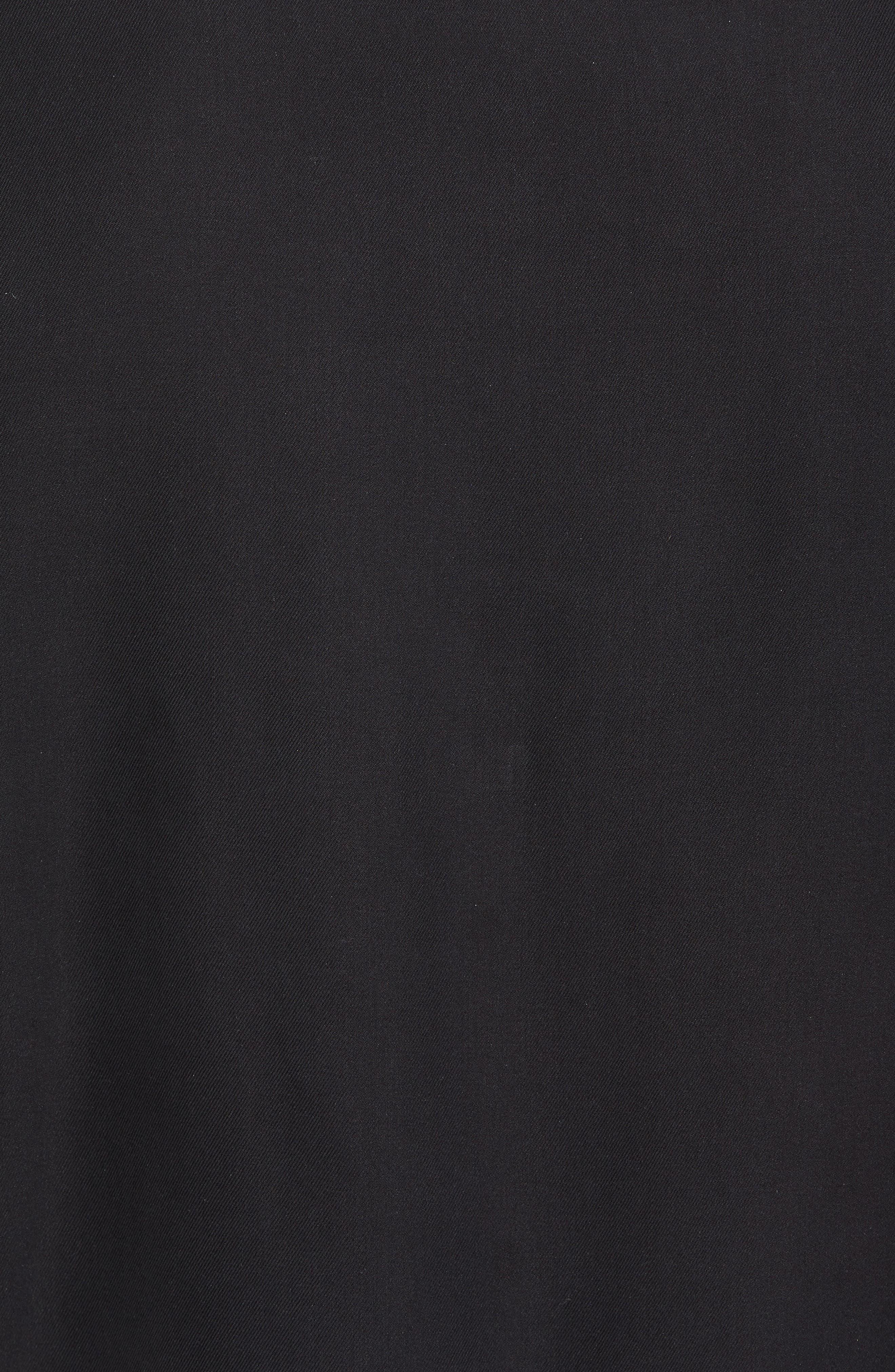 New Originals Silk Sport Shirt,                             Alternate thumbnail 5, color,                             Black