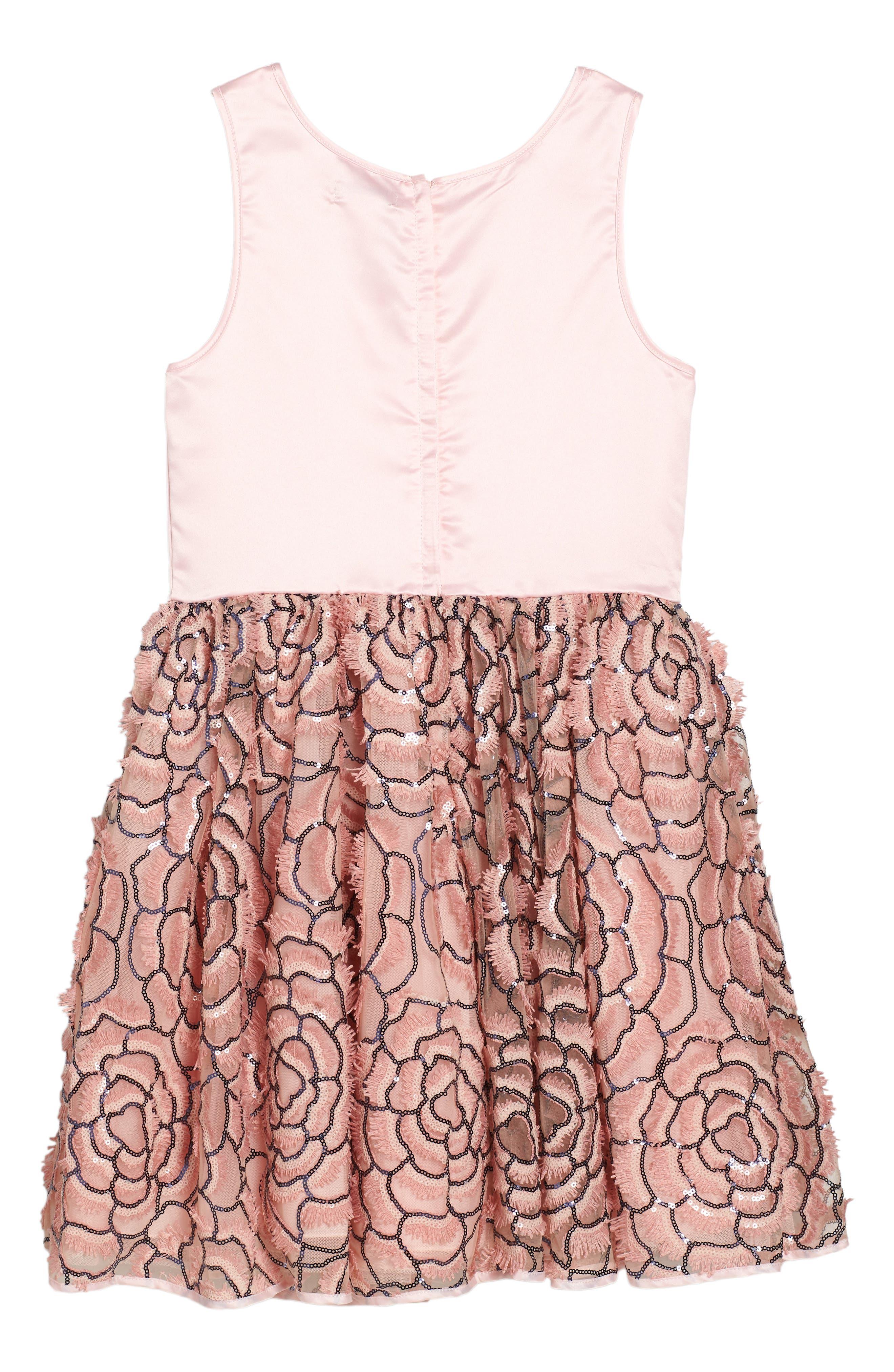 Alternate Image 2  - Nanette Lepore Sequin Mesh & Satin Dress (Big Girls)