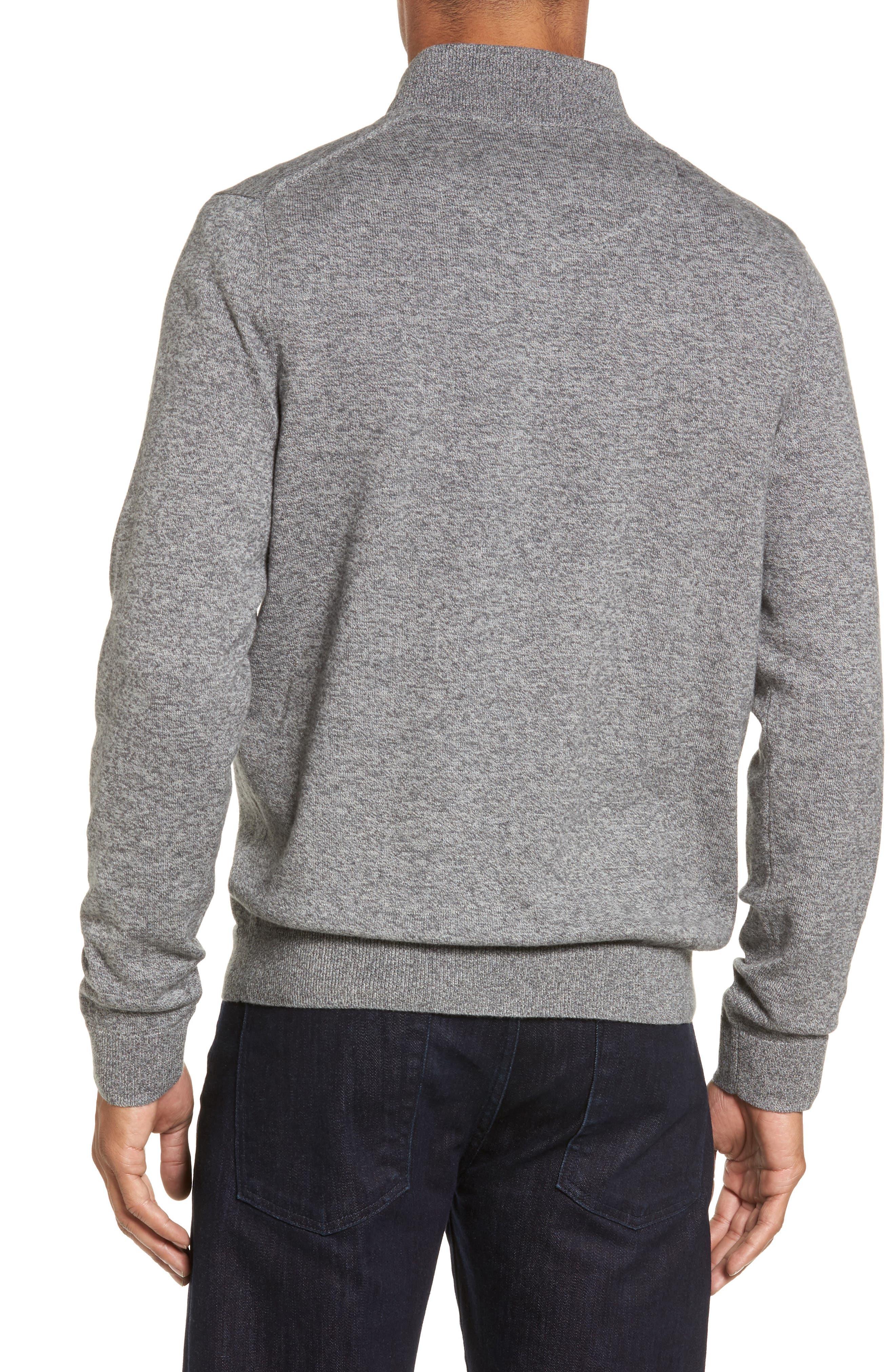 Alternate Image 2  - Nordstrom Men's Shop Quarter Zip Sweater (Big)