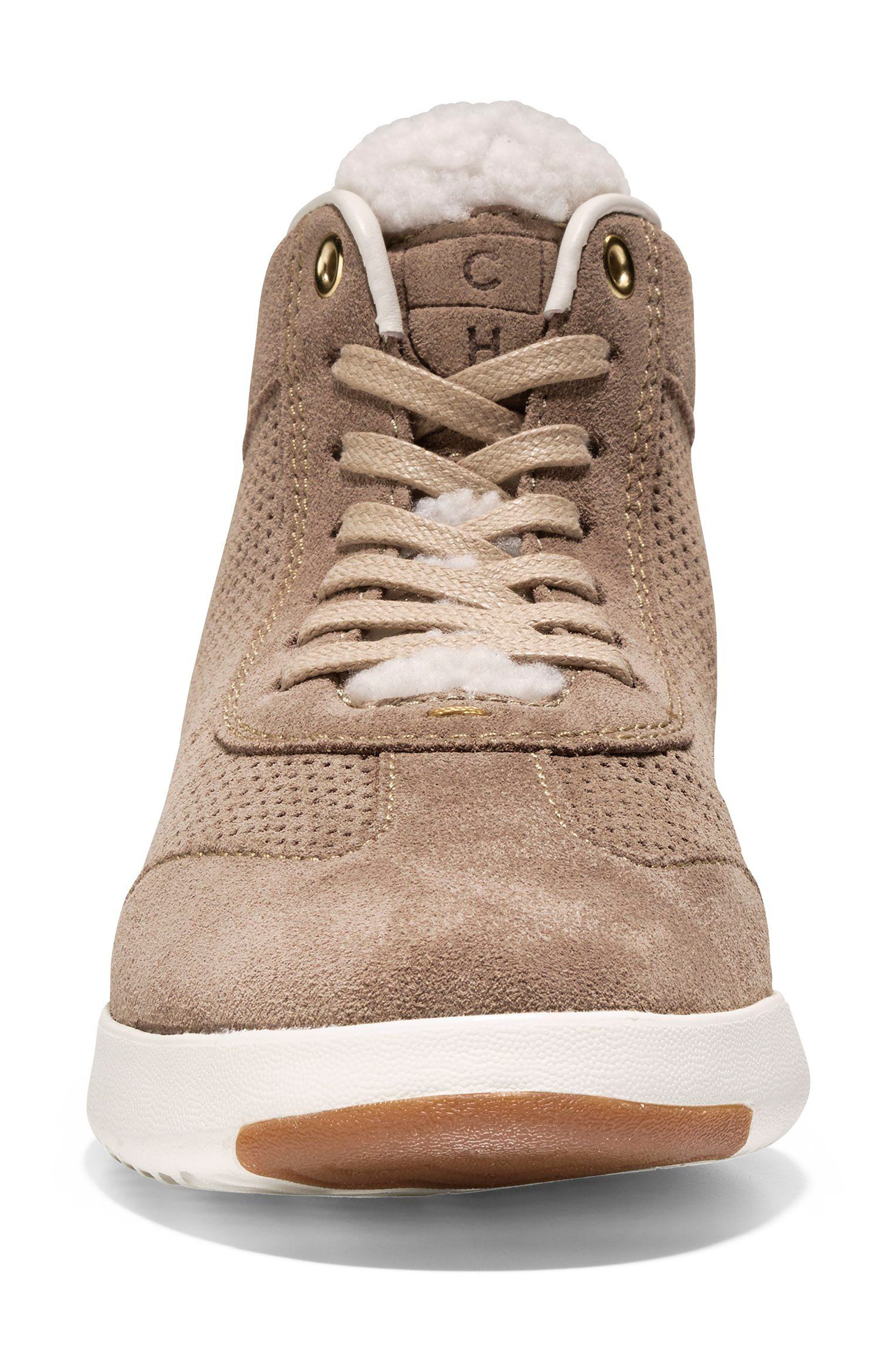 GrandPro High Top Sneaker,                             Alternate thumbnail 4, color,                             Warm Sand Suede