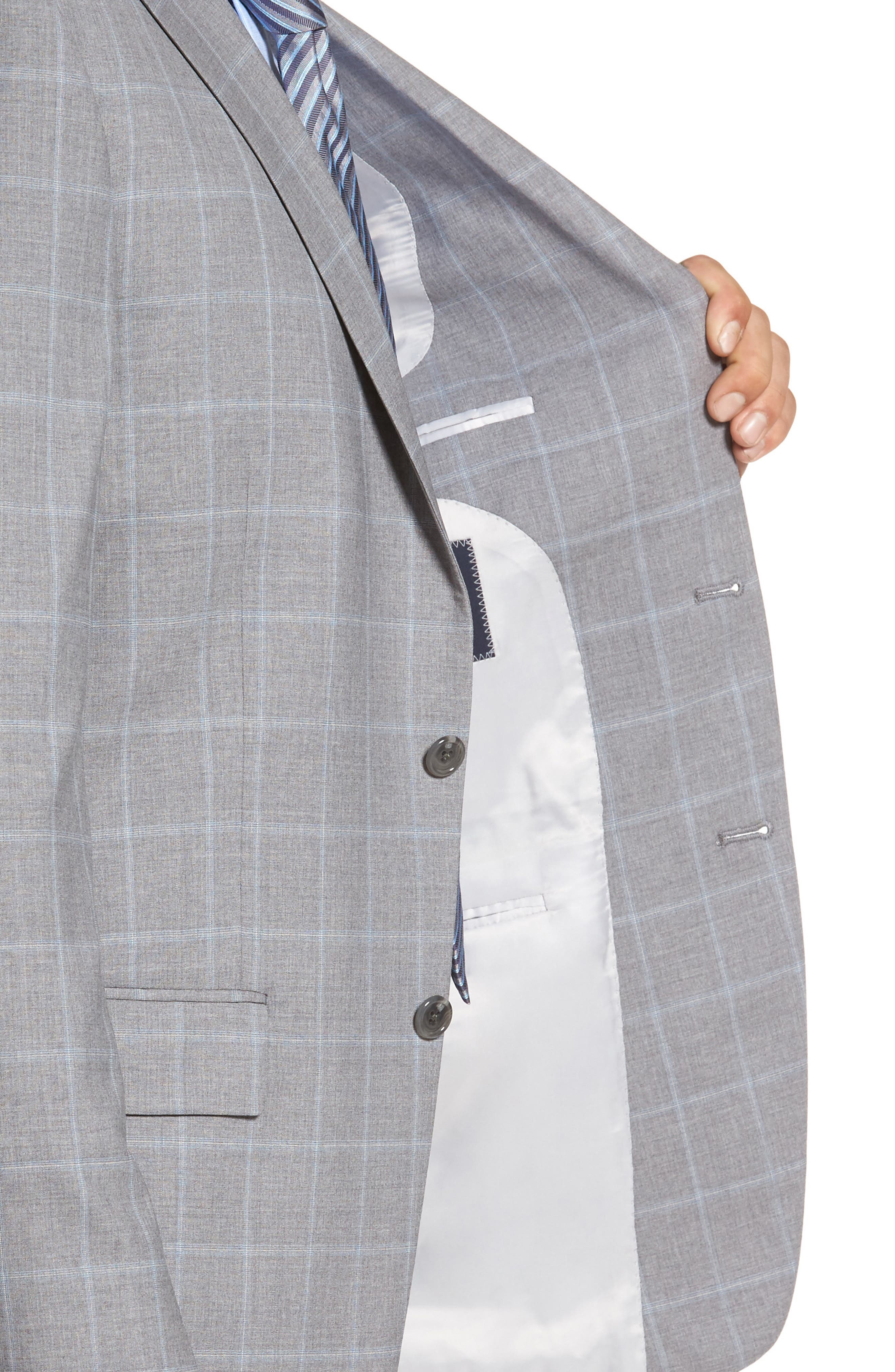 Alternate Image 4  - Hart Schaffner Marx Classic Fit Windowpane Wool Suit