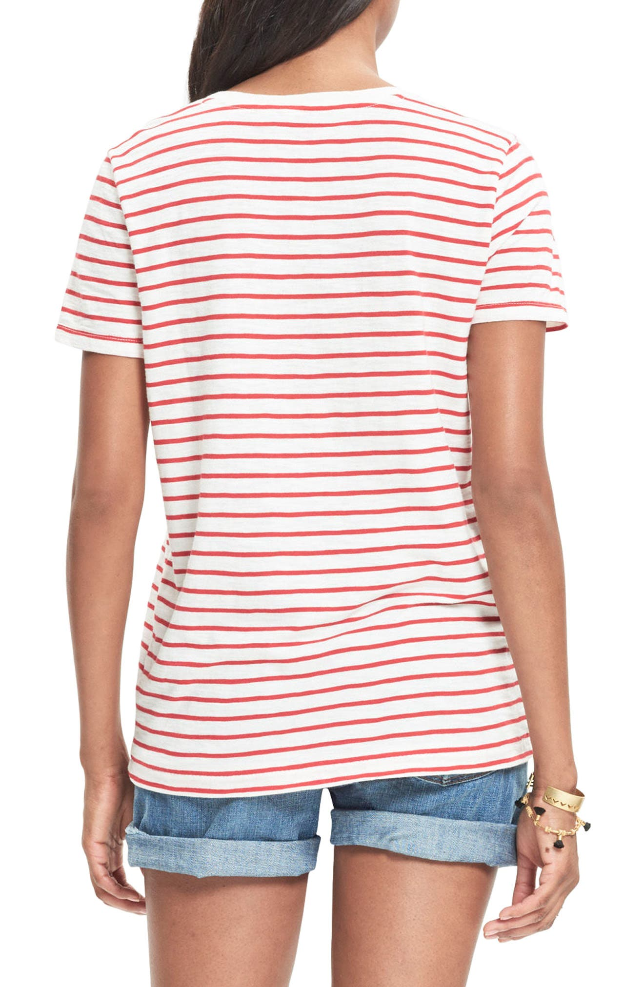 Alternate Image 2  - Madewell Whisper Cotton Stripe V-Neck Tee