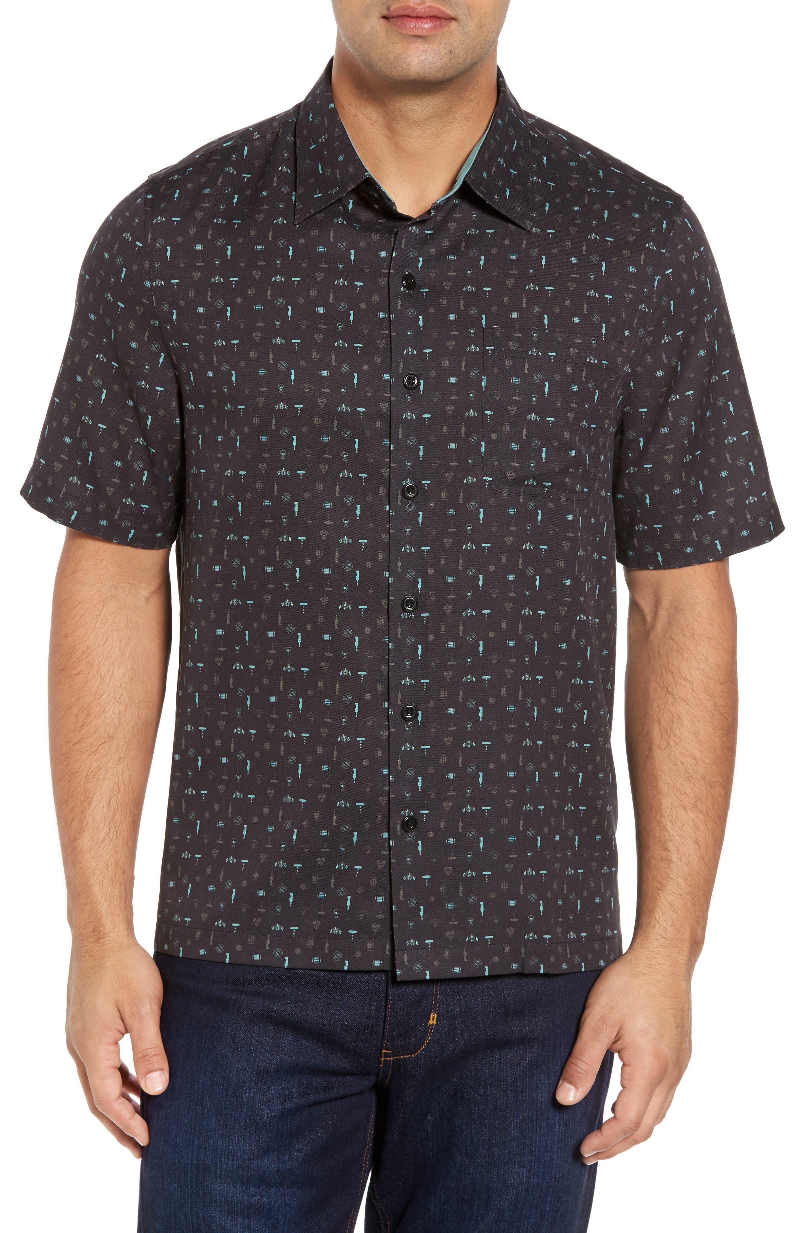 Alternate Image 1 Selected - Nat Nast Cocktails Classic Fit Silk Blend Sport Shirt