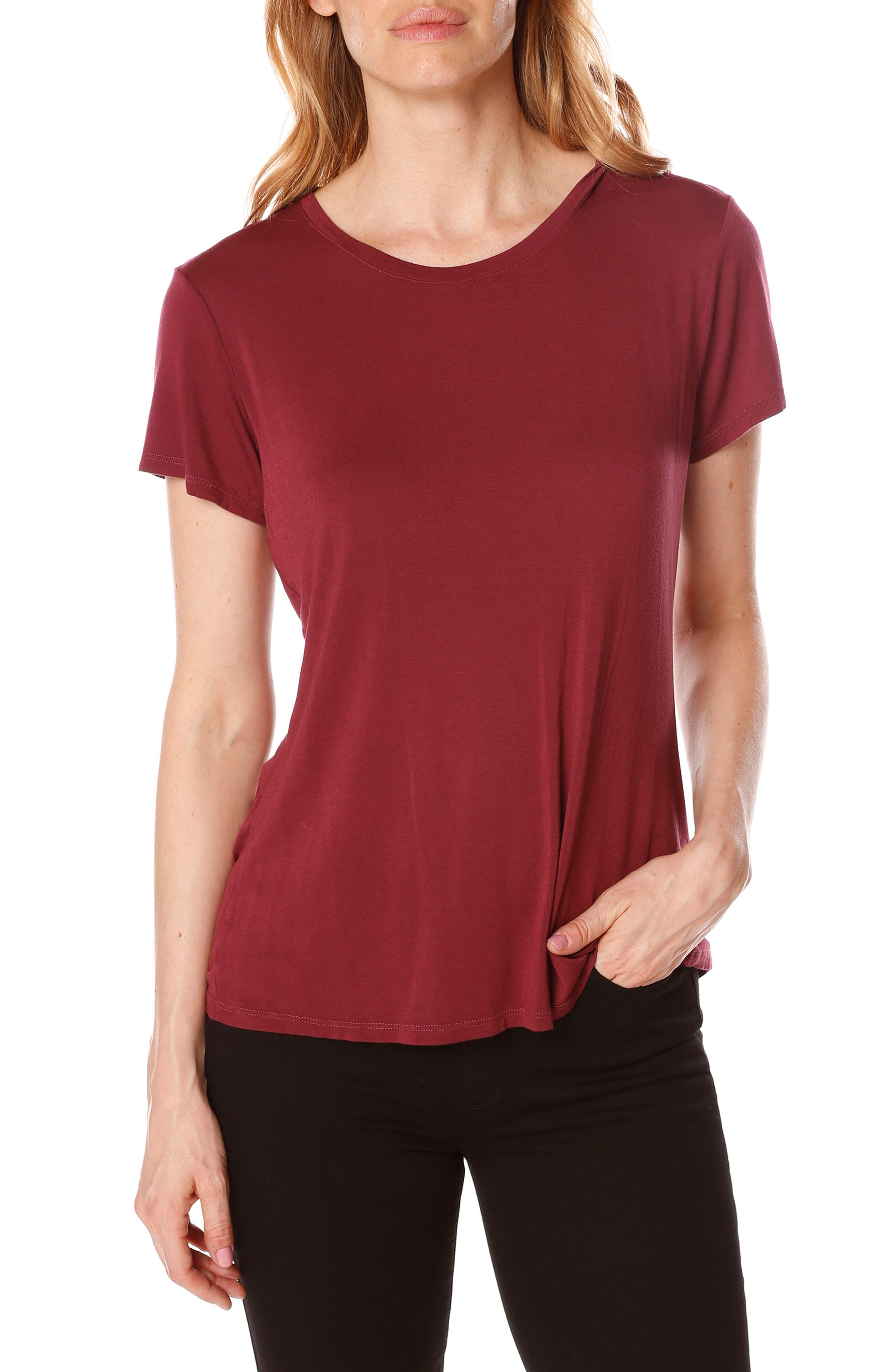 Bexley Tee,                         Main,                         color, Rouge