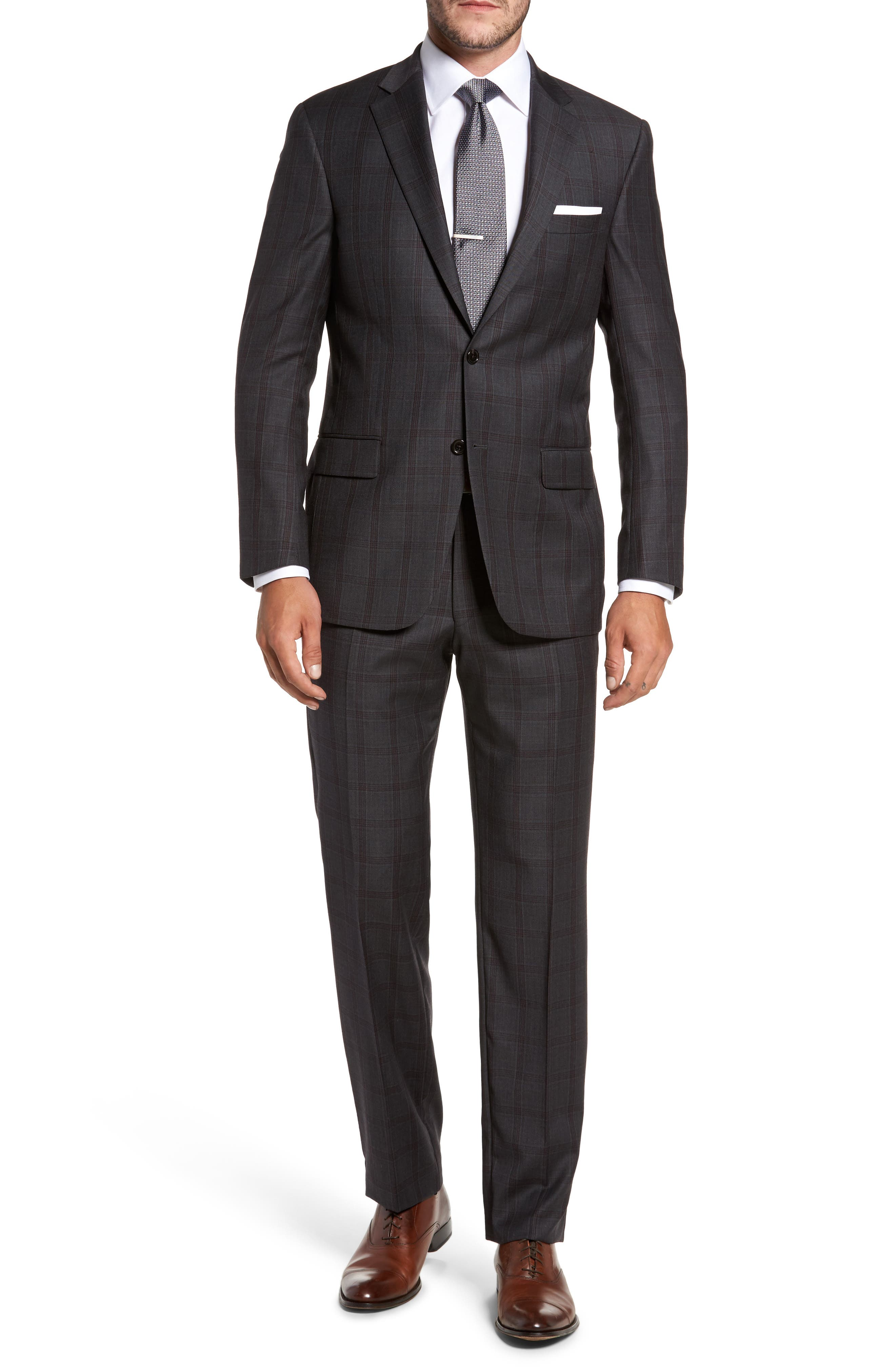 Hart Schaffner Marx Classic Fit Check Wool Suit