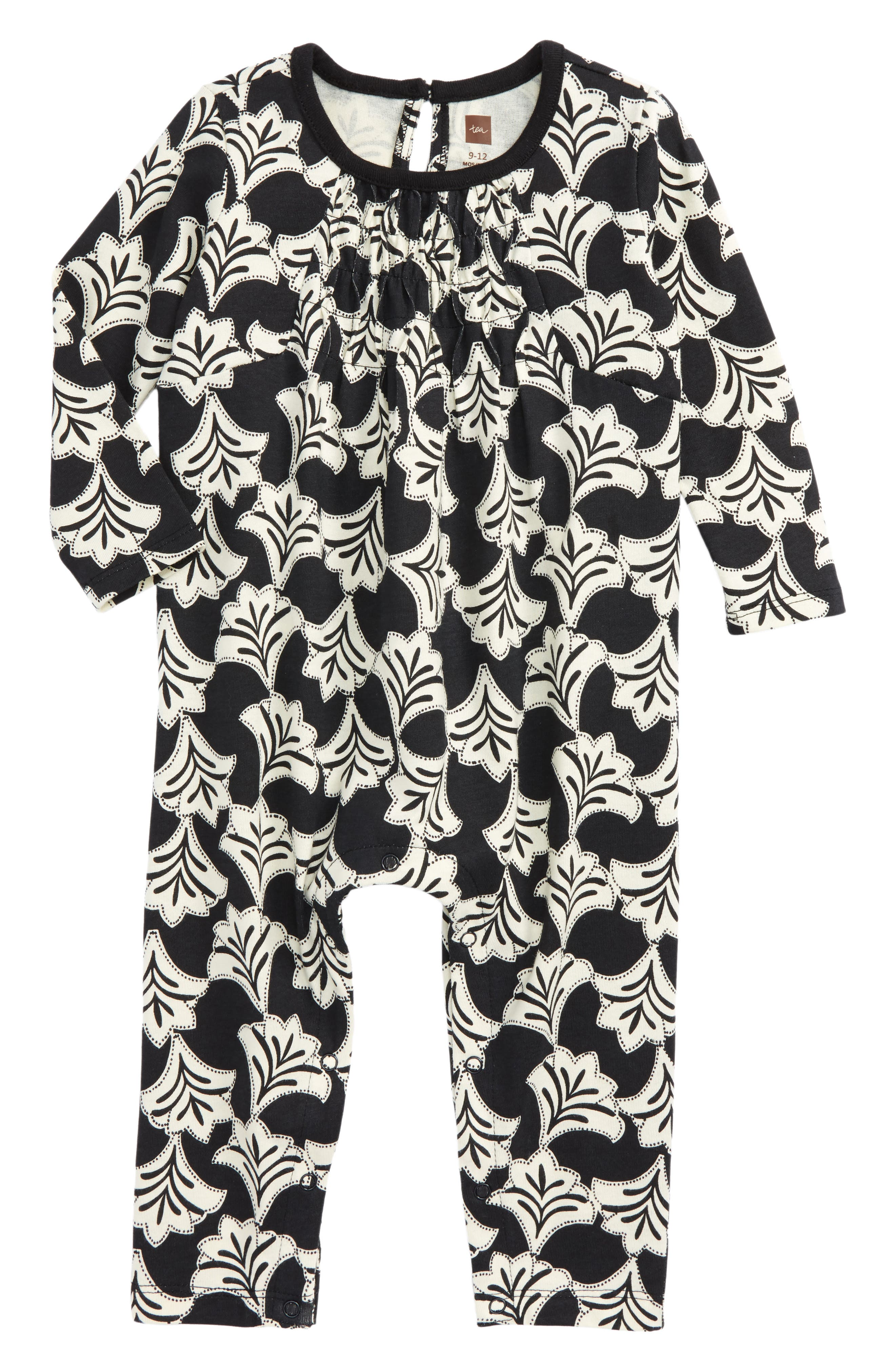 Alternate Image 1 Selected - Tea Collection Aven Smocked Romper (Baby Girls)