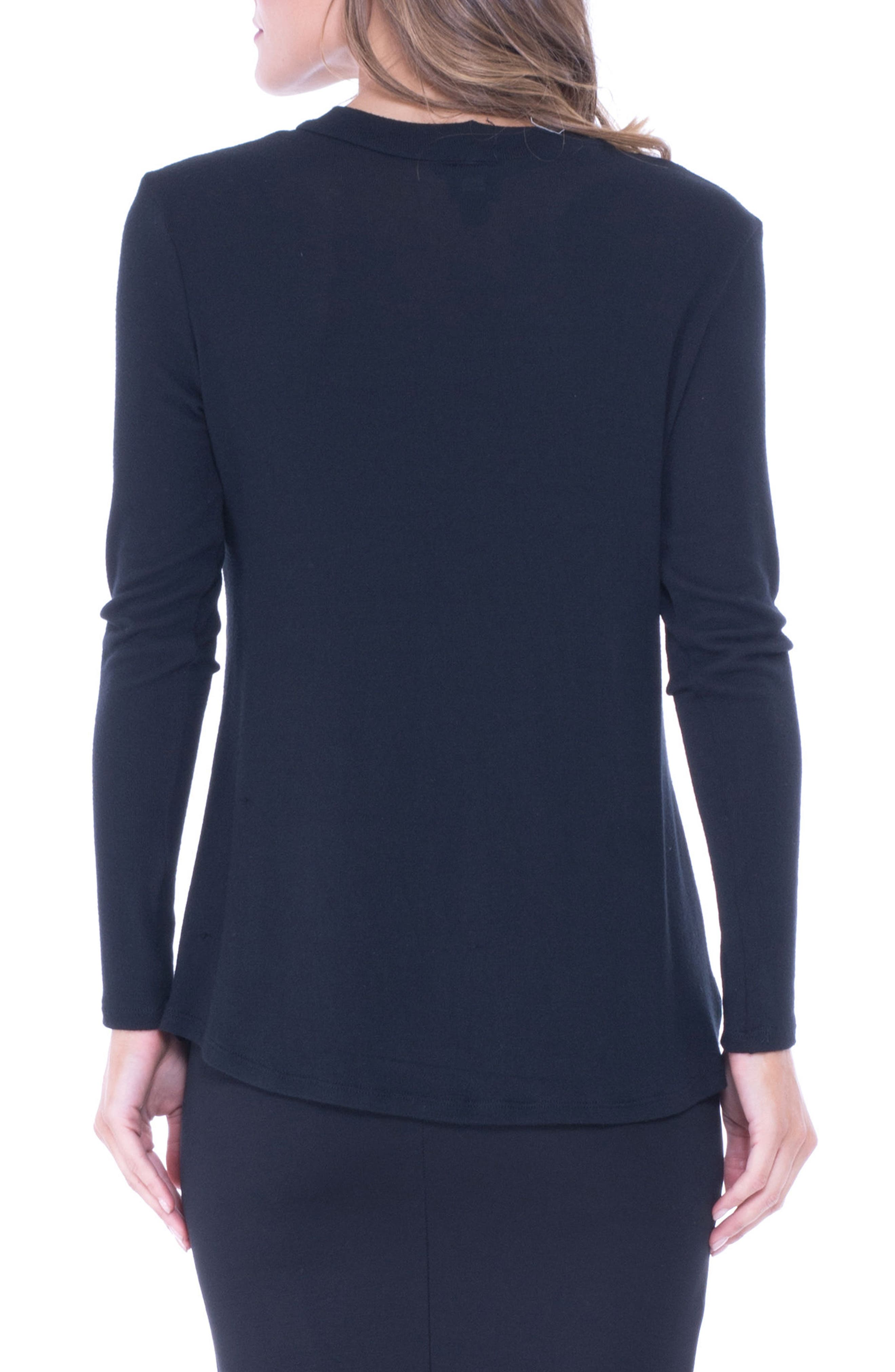 Alternate Image 2  - Olian Faux Leather Trim Maternity Top