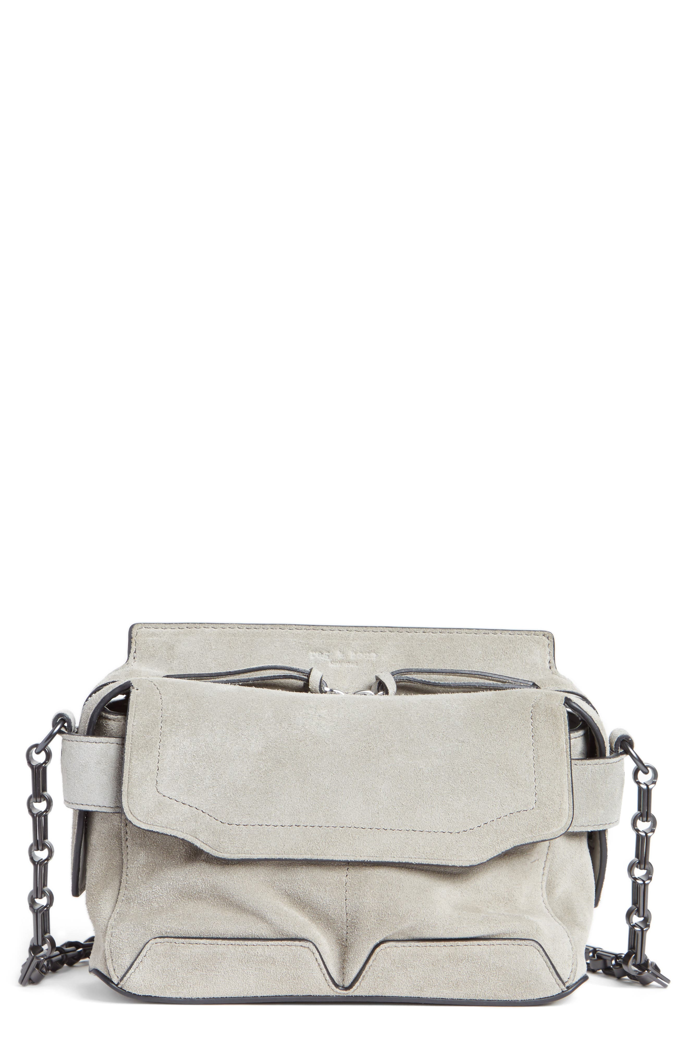Alternate Image 1 Selected - rag & bone Micro Pilot Suede & Leather Satchel