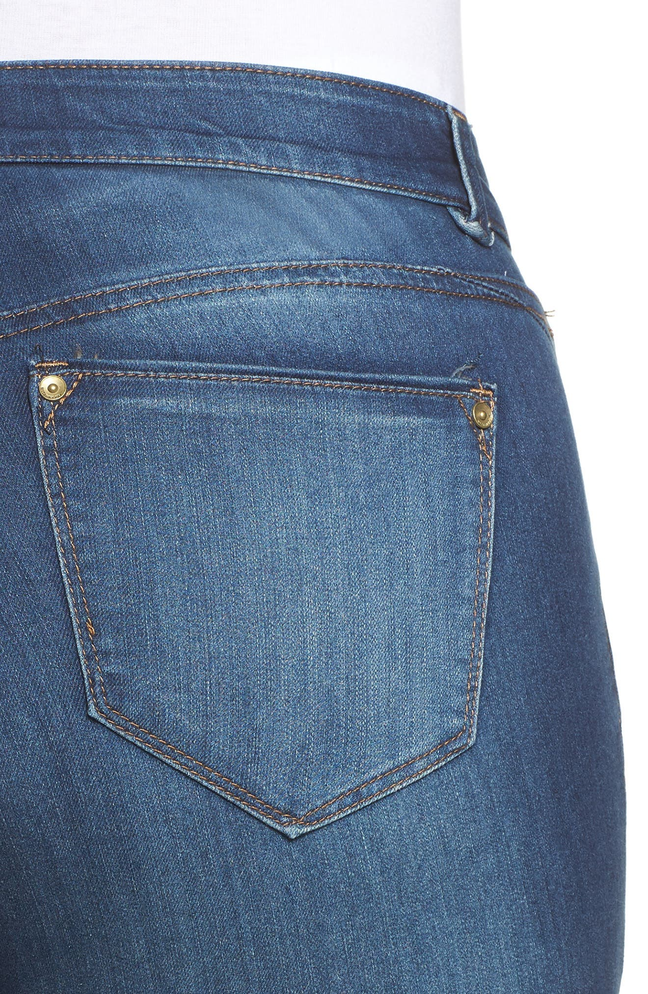 Alternate Image 4  - Wit & Wisdom Ab-solution Skinny Jeans (Plus Size) (Nordstrom Exclusive)