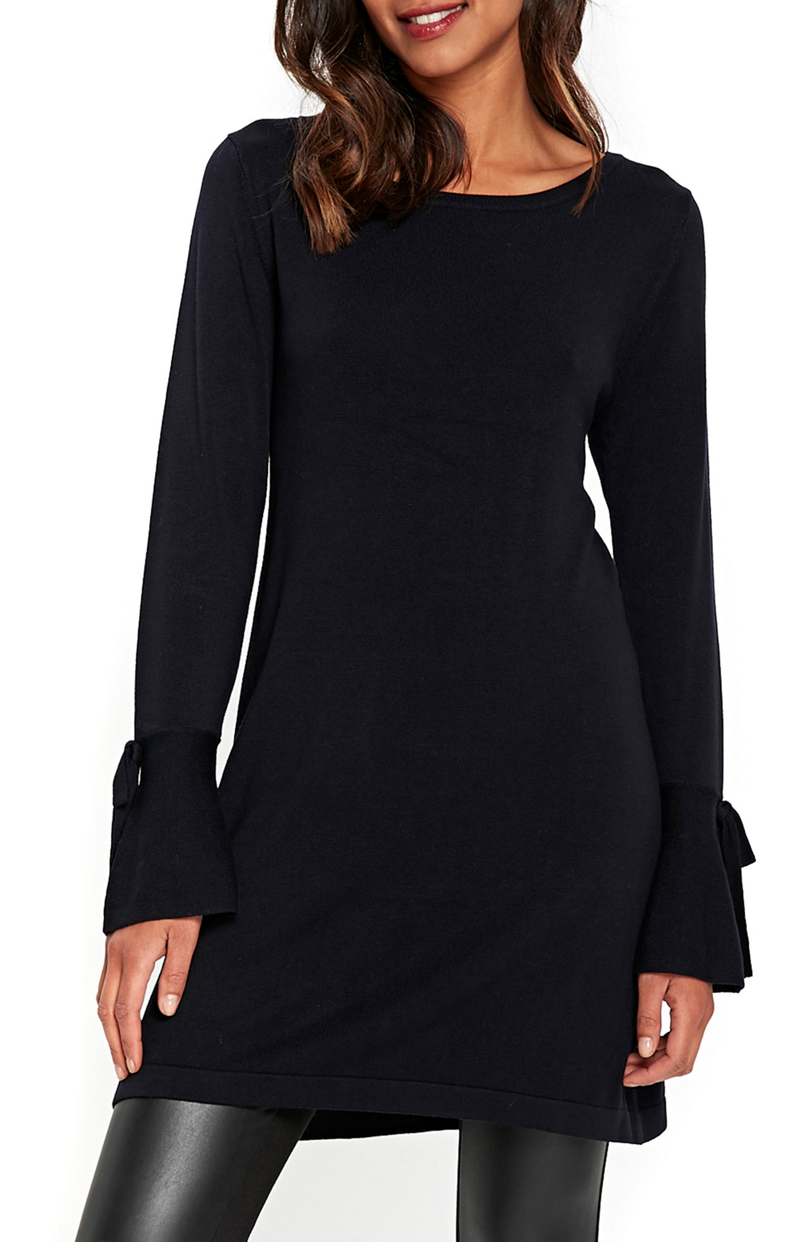 Wallis Knitted Bow Sleeve Shift Dress