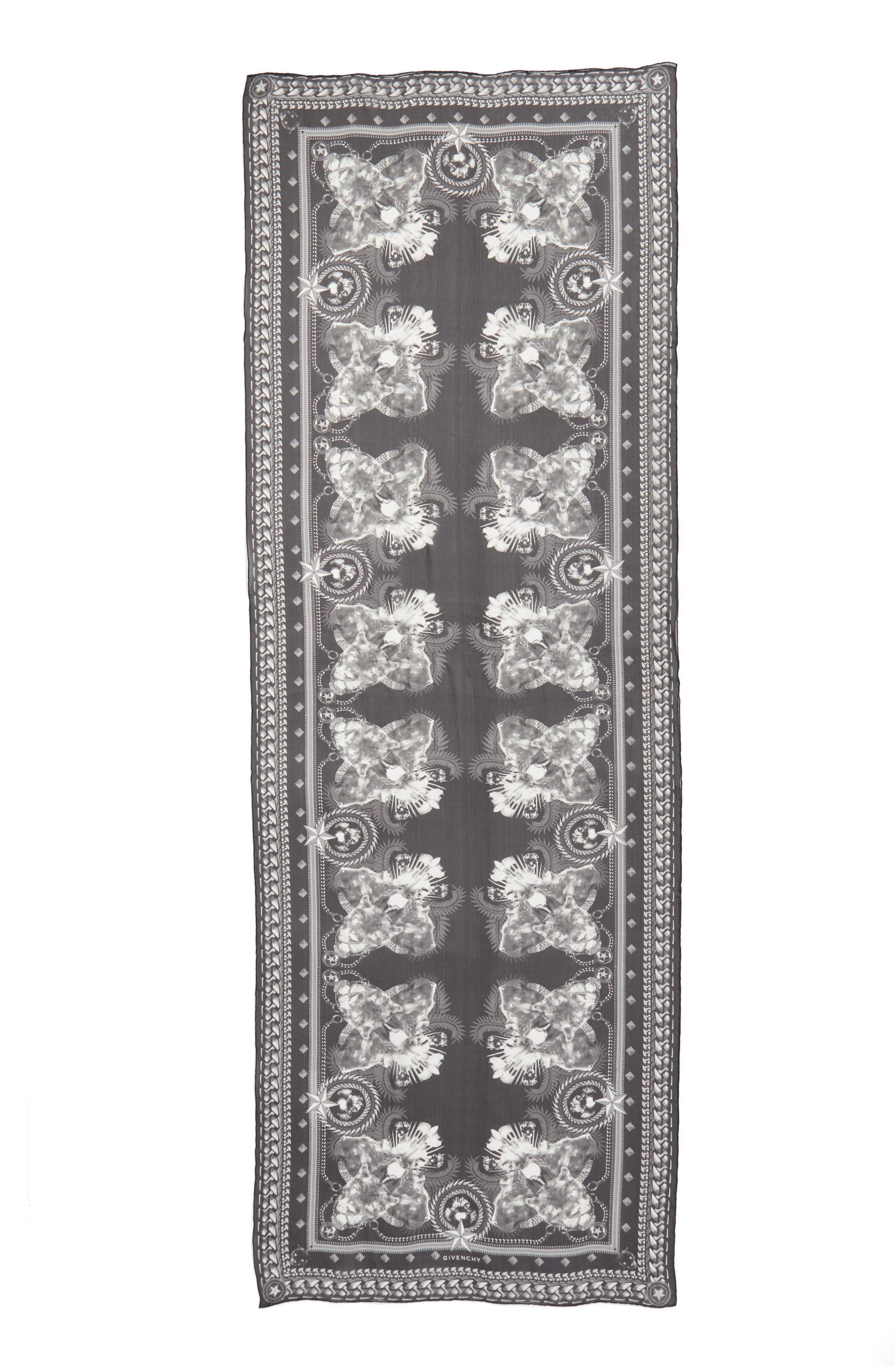 Main Image - Givenchy Panther Silk Chiffon Scarf