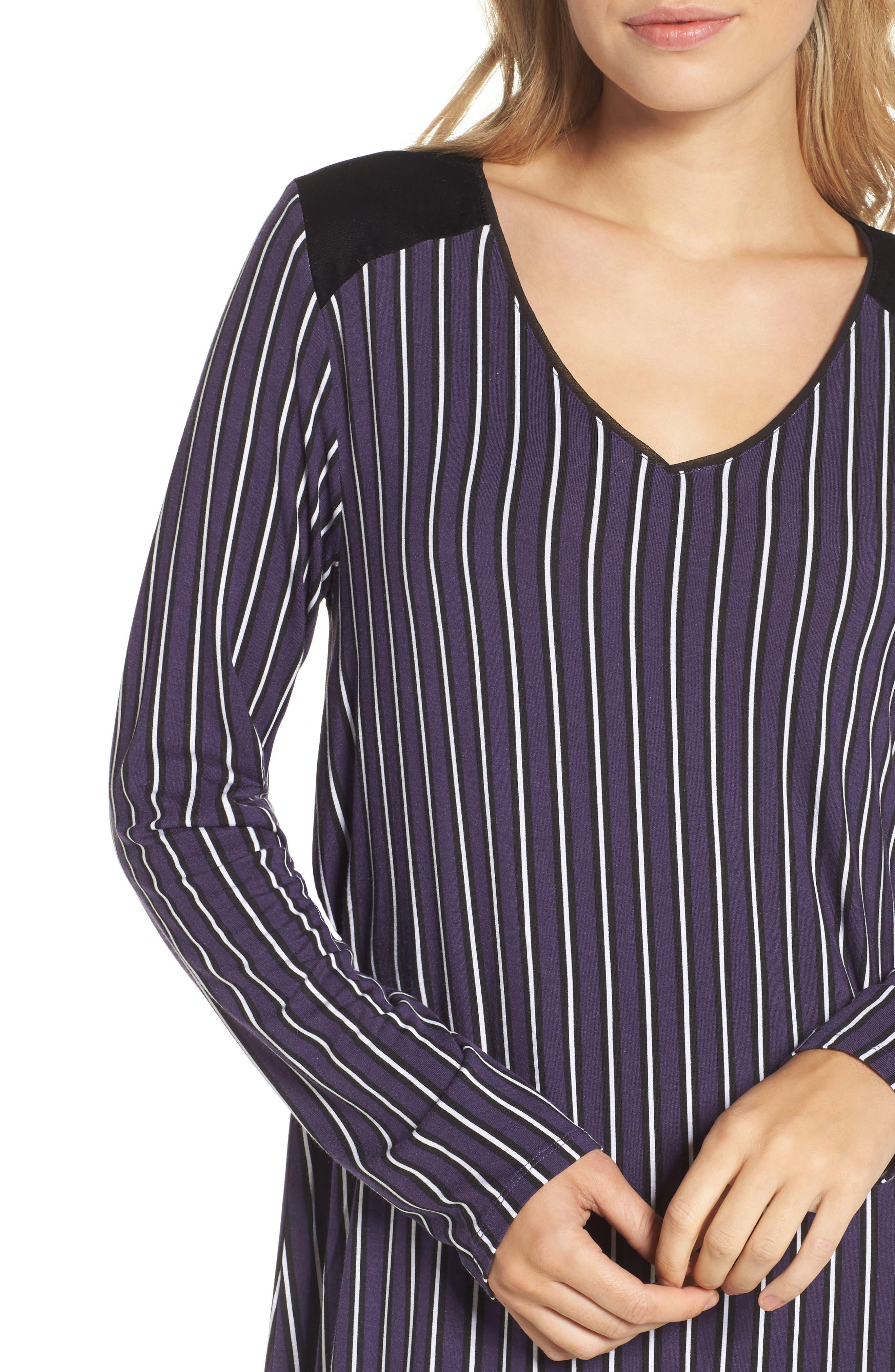 Alternate Image 5  - DKNY Stripe Jersey Sleep Shirt