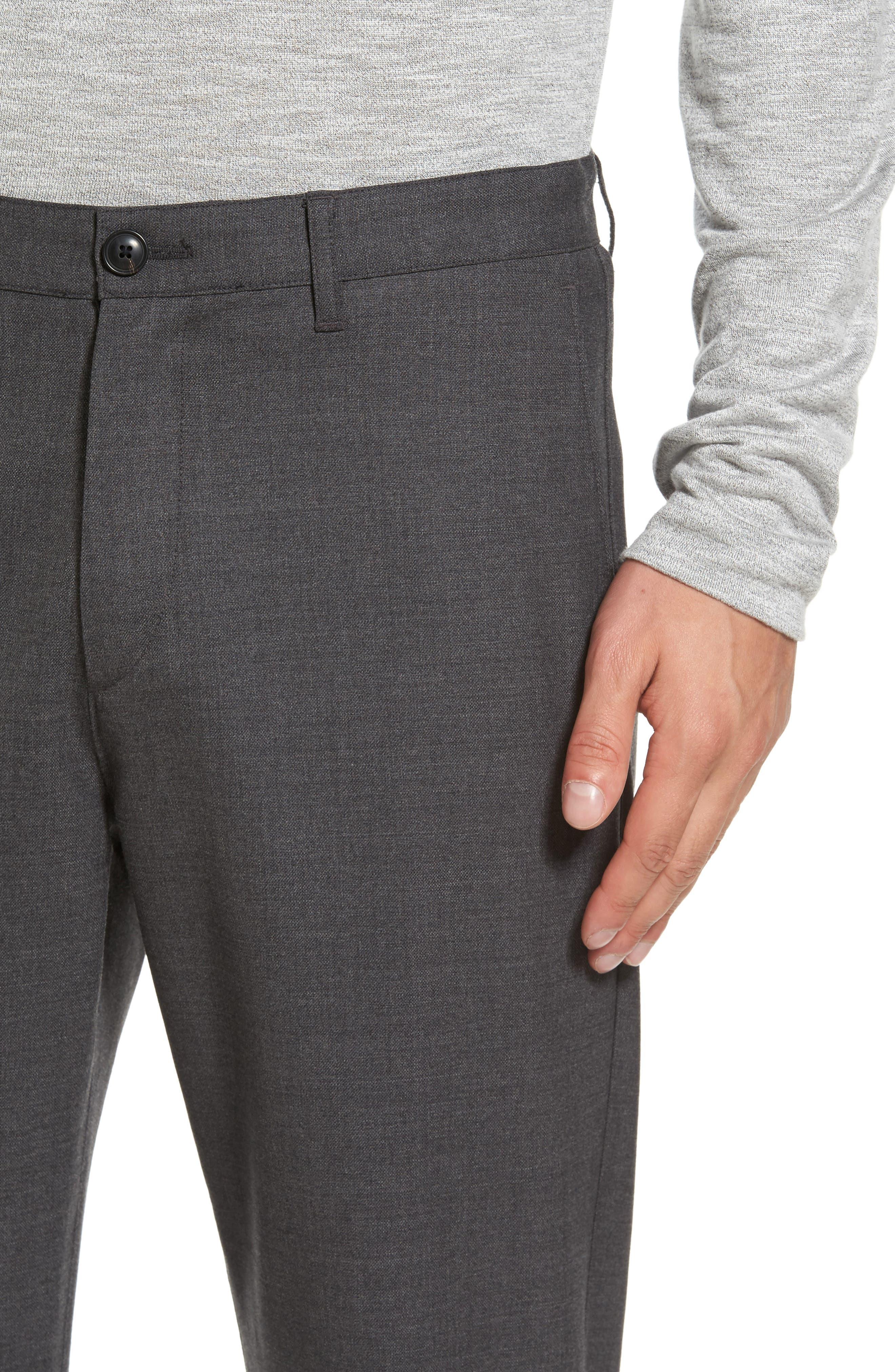 Zaine Gearheart Slim Straight Pants,                             Alternate thumbnail 4, color,                             Medium Charcoal