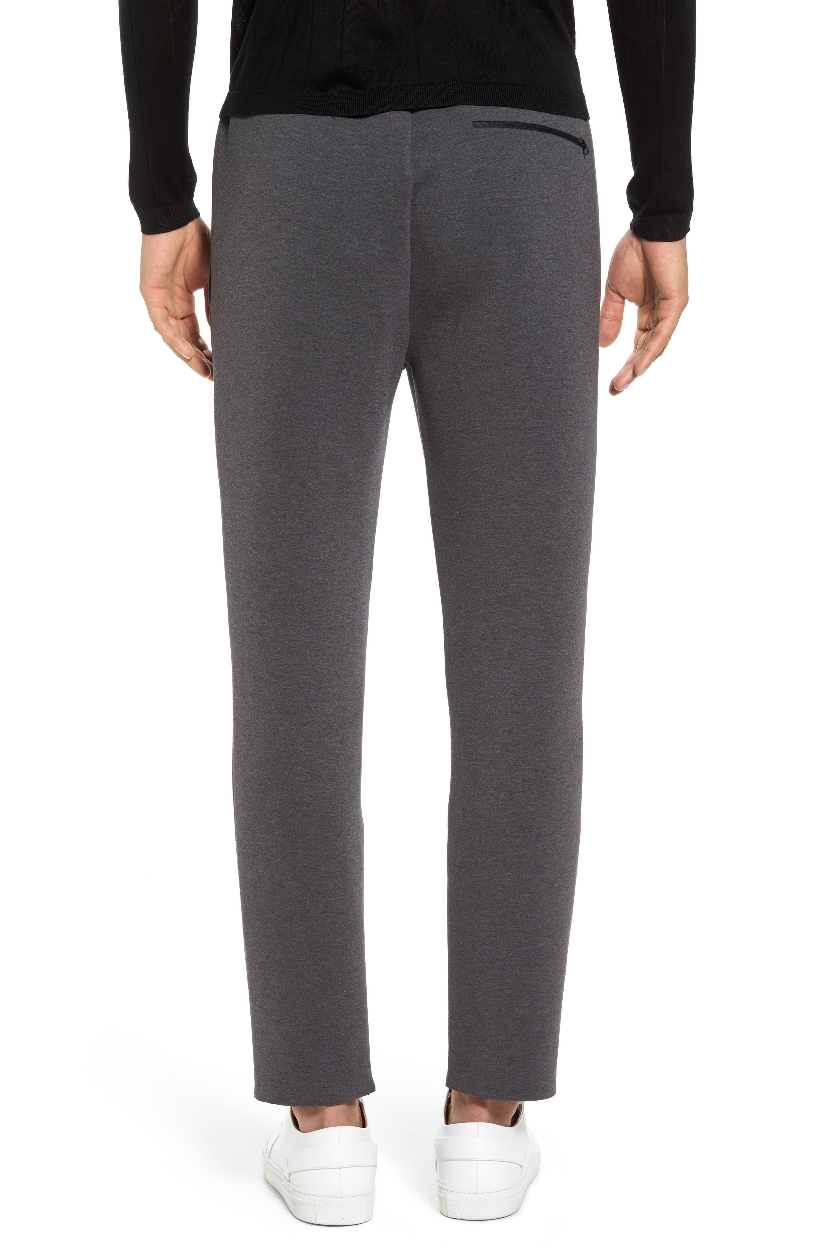 Knit Lounge Pants,                             Alternate thumbnail 2, color,                             Charcoal Heather