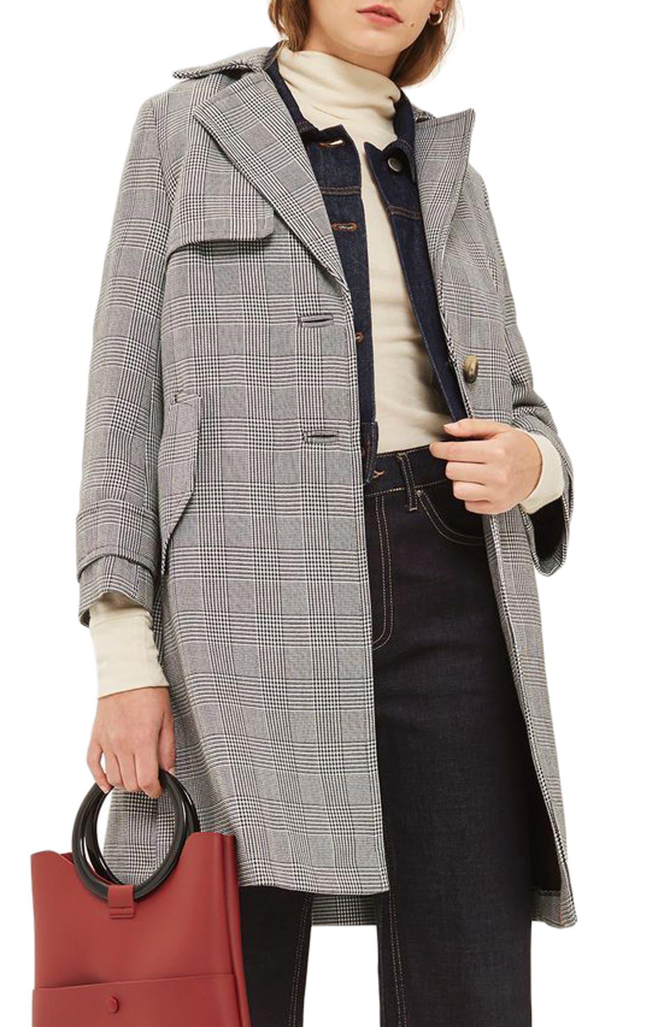 Main Image - Topshop Pow Bonded Coat