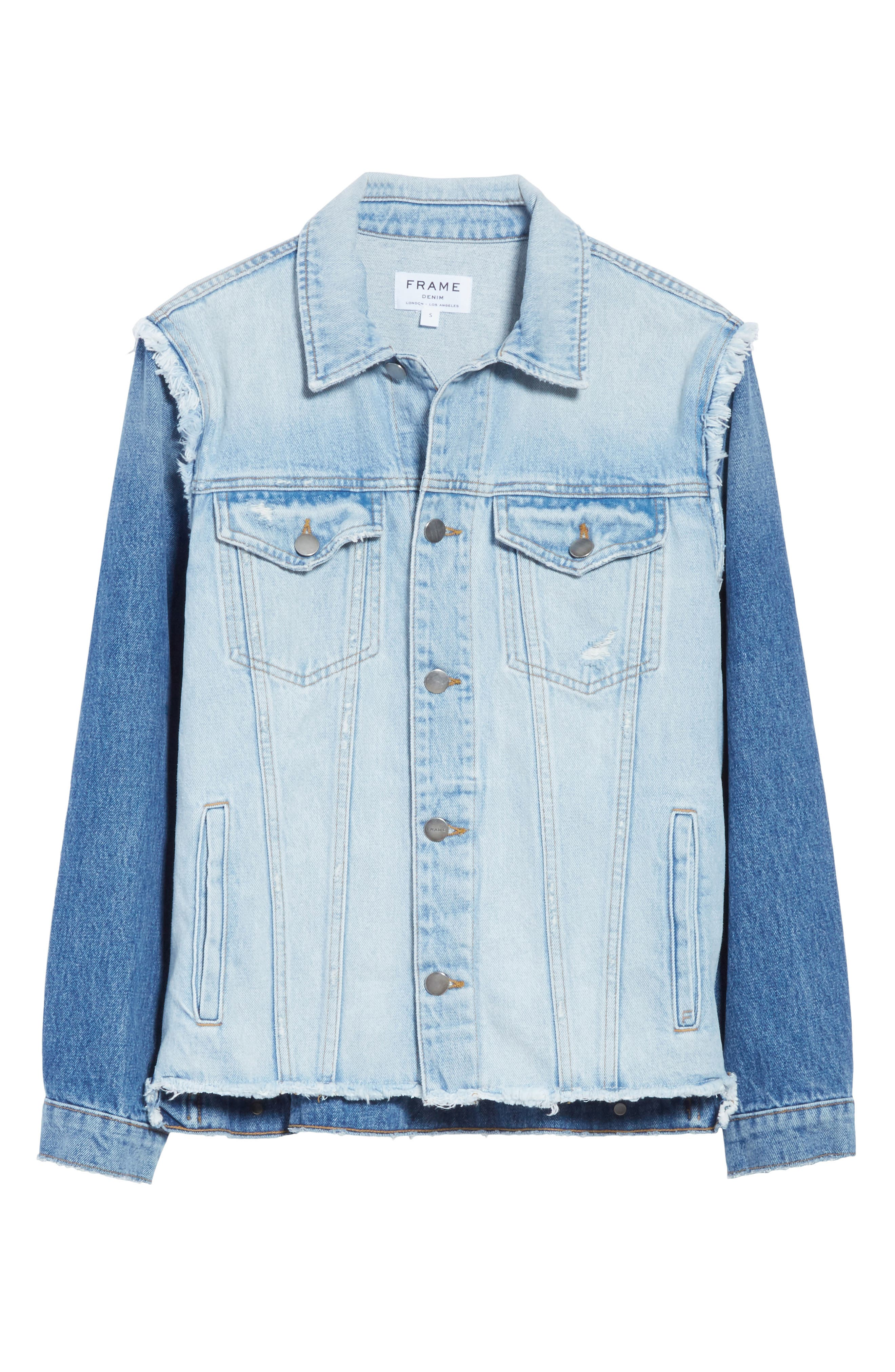 Le Reconstructed Denim Jacket,                             Alternate thumbnail 6, color,                             Cullen