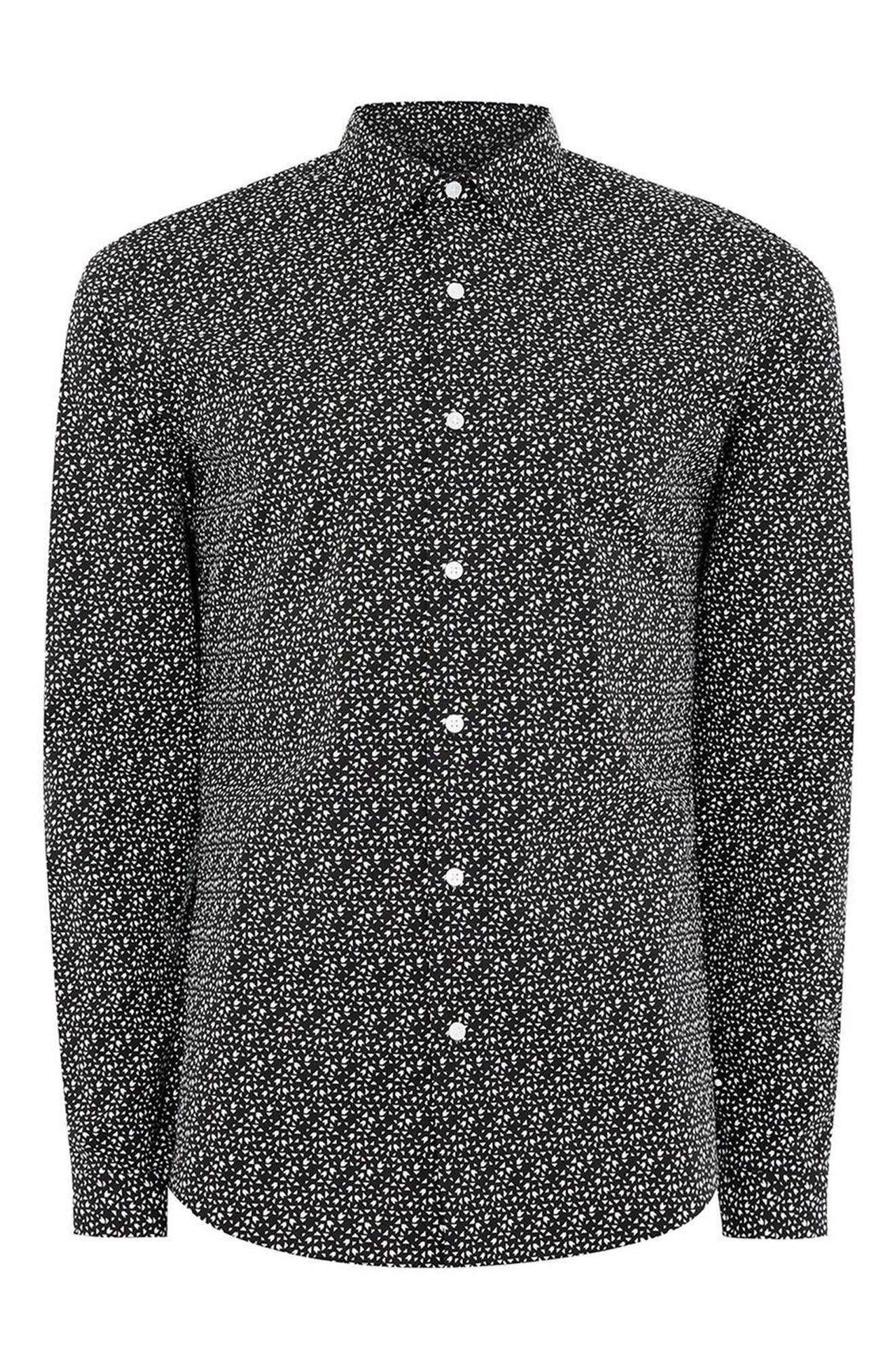 Alternate Image 6  - Topman Skinny Fit Geo Print Stretch Woven Shirt