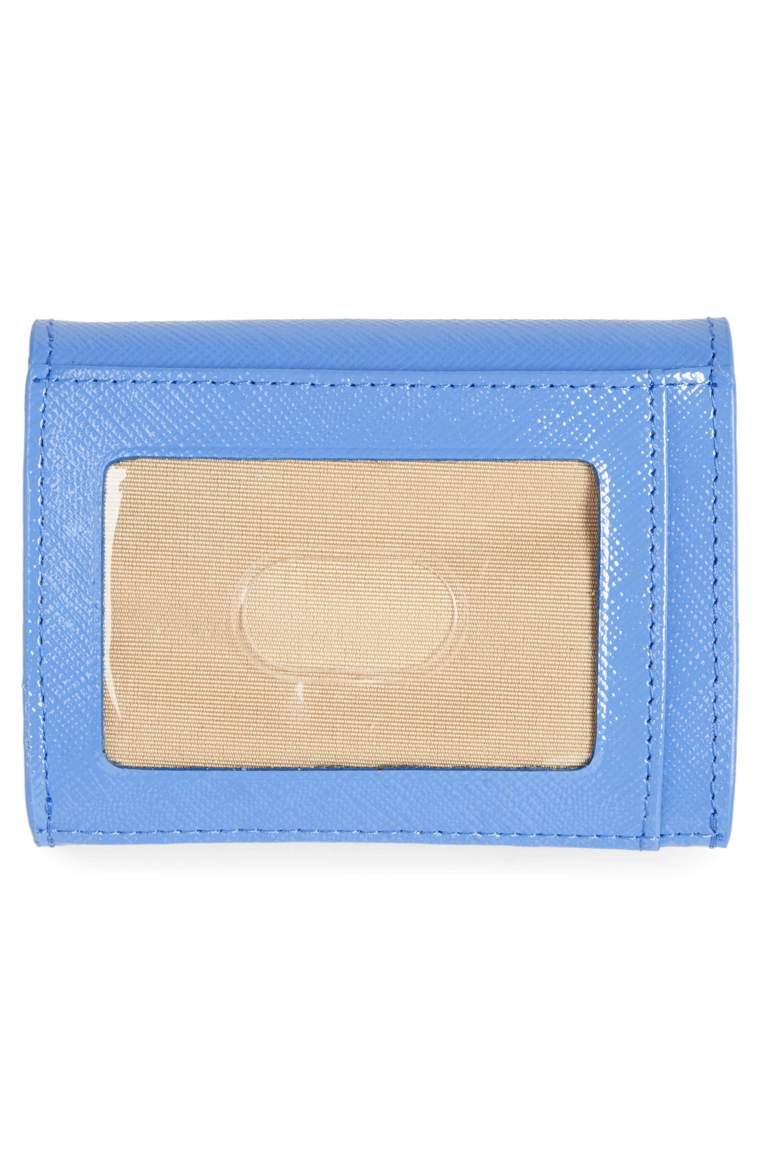 Leather Card Holder,                             Alternate thumbnail 3, color,                             Blue Regatta