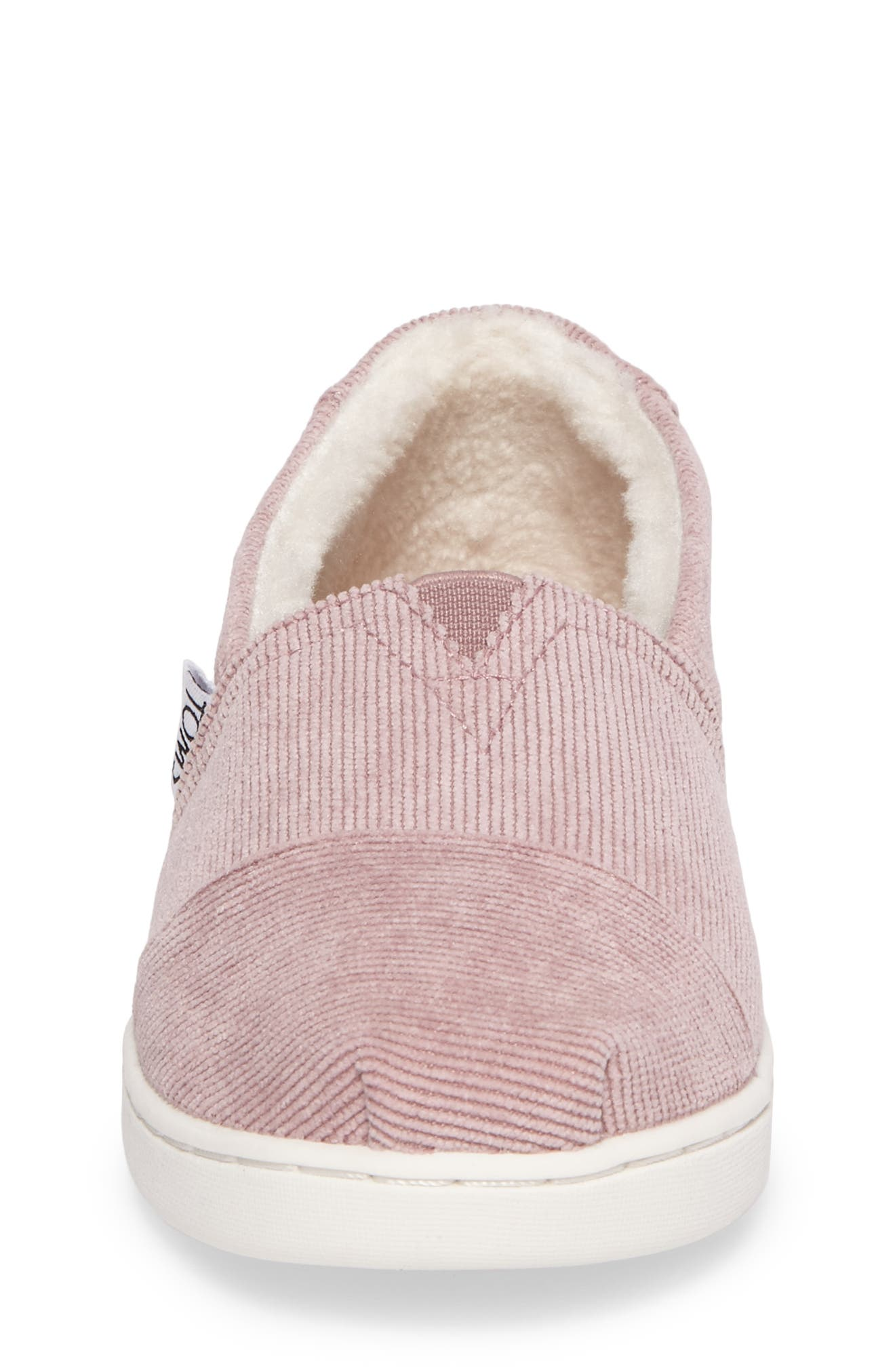Classic Alpargata Slip-On,                             Alternate thumbnail 4, color,                             Faded Rose Corduroy