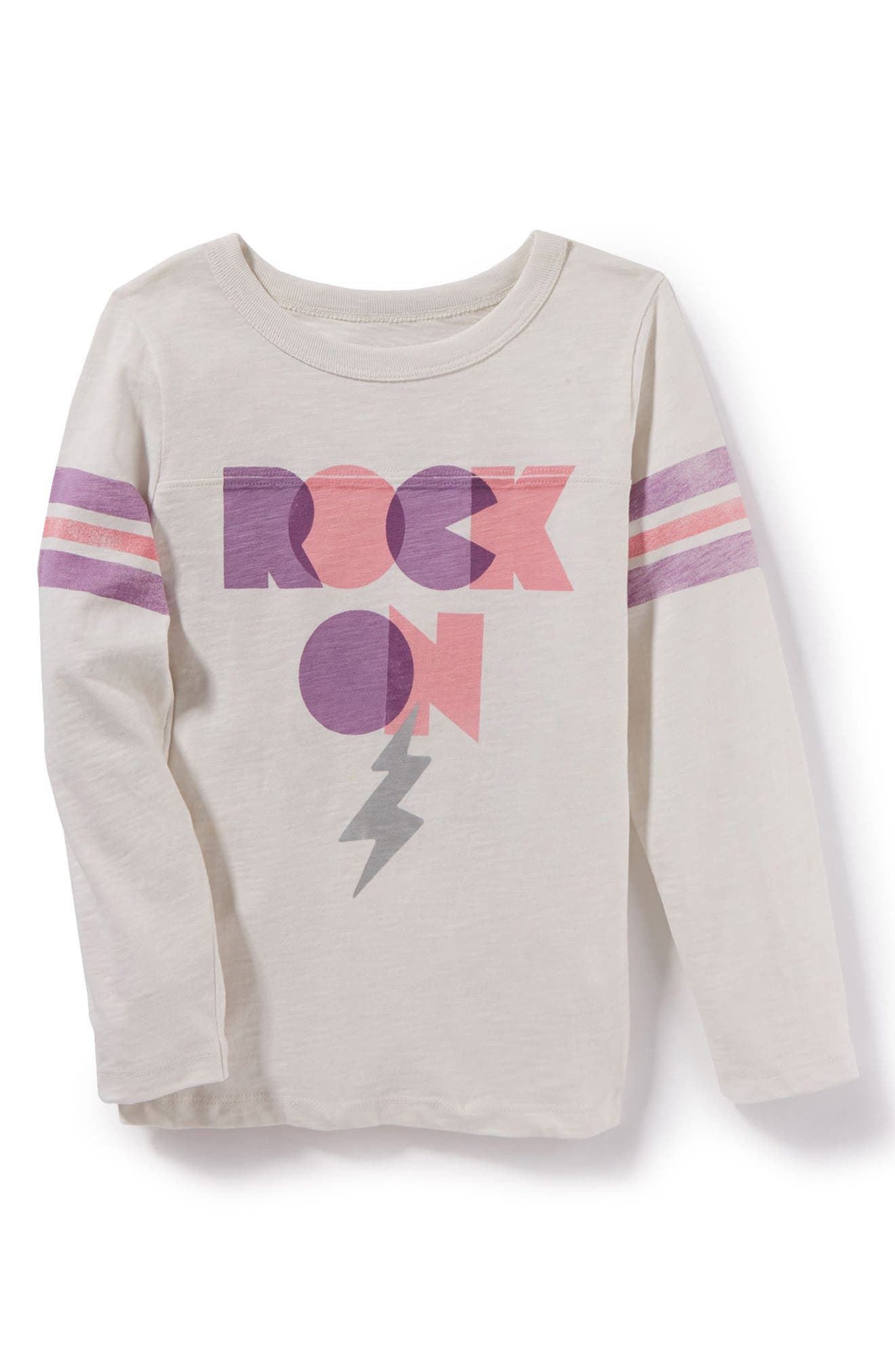 Rock On Graphic Tee,                             Main thumbnail 1, color,                             Ivory