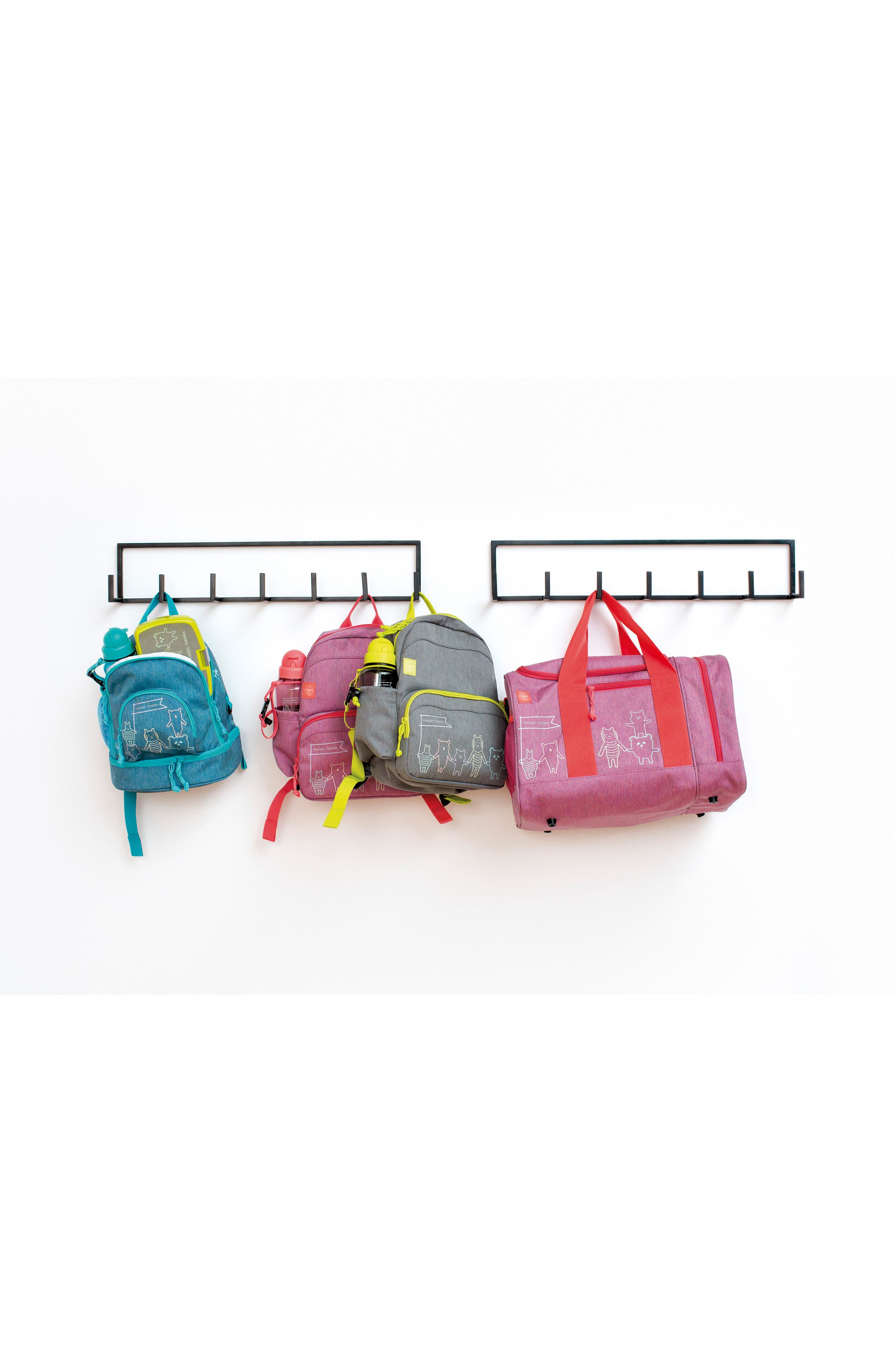 Mini About Friends Duffel Bag,                             Alternate thumbnail 7, color,                             Melange Pink