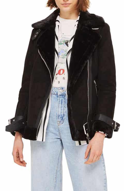Women's Black Shearling Coats & Jackets | Nordstrom