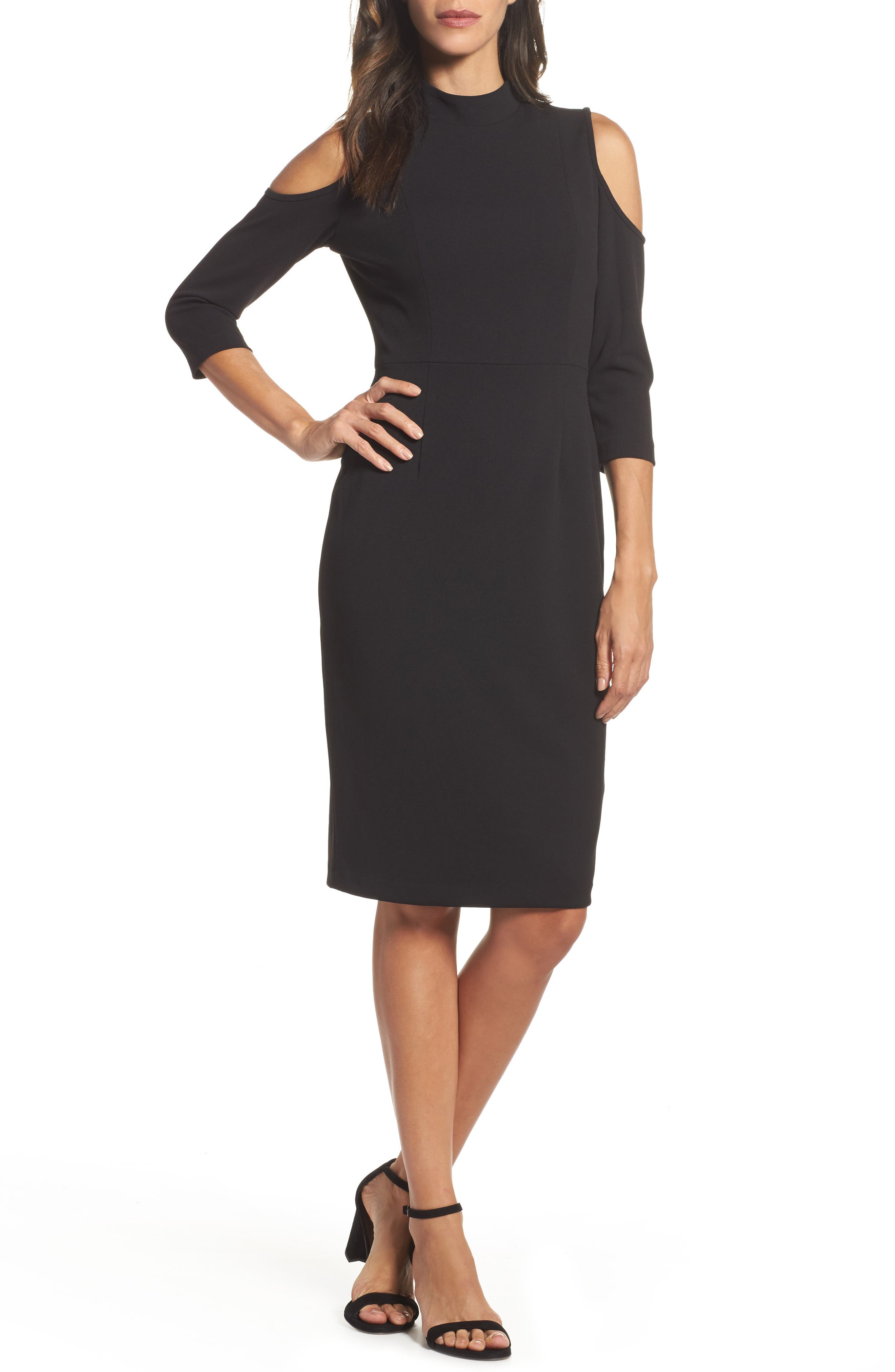 Alternate Image 1 Selected - Adrianna Papell Cold Shoulder Sheath Dress