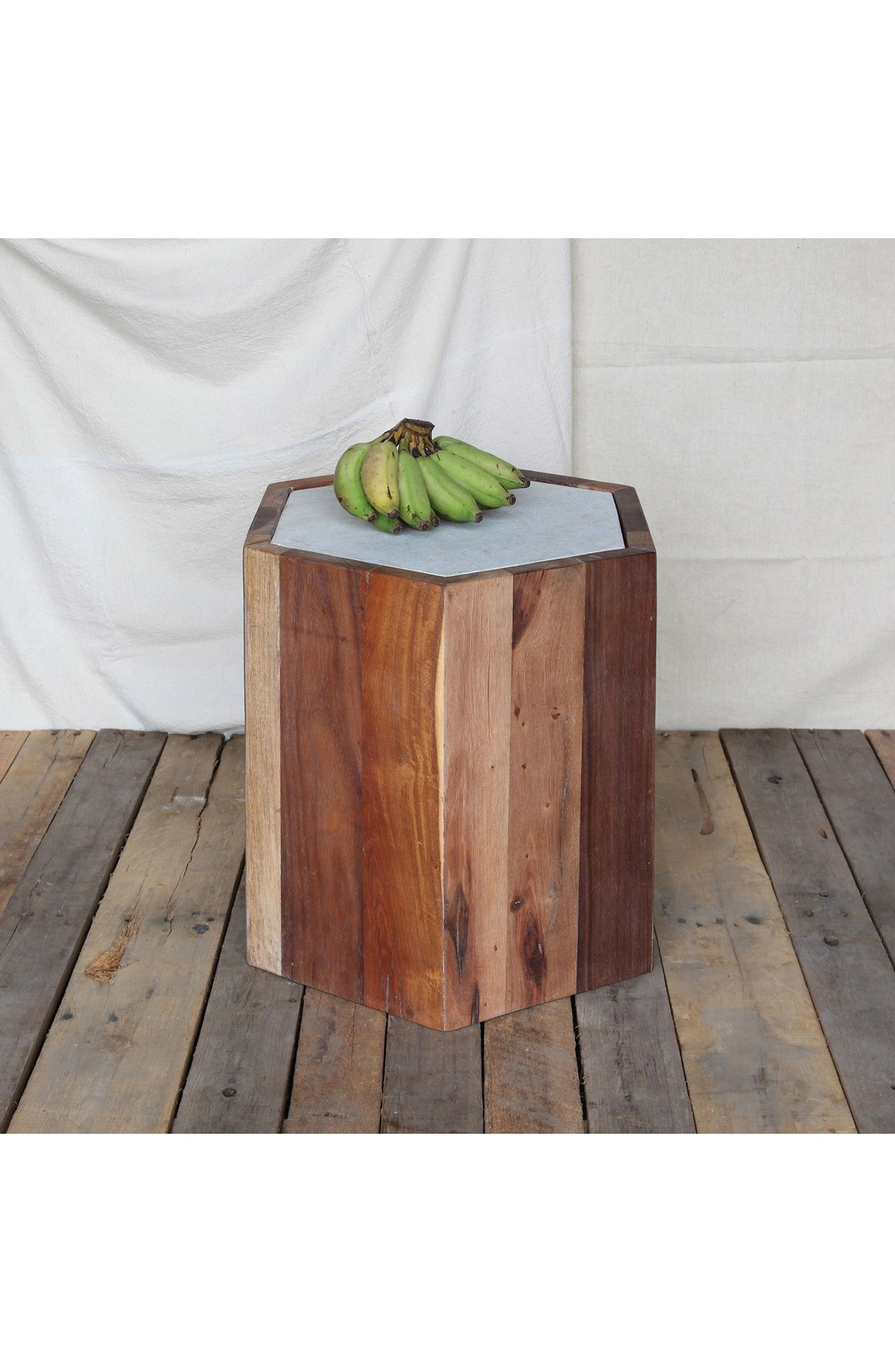 HomArt Reclaimed Wood & Marble Table