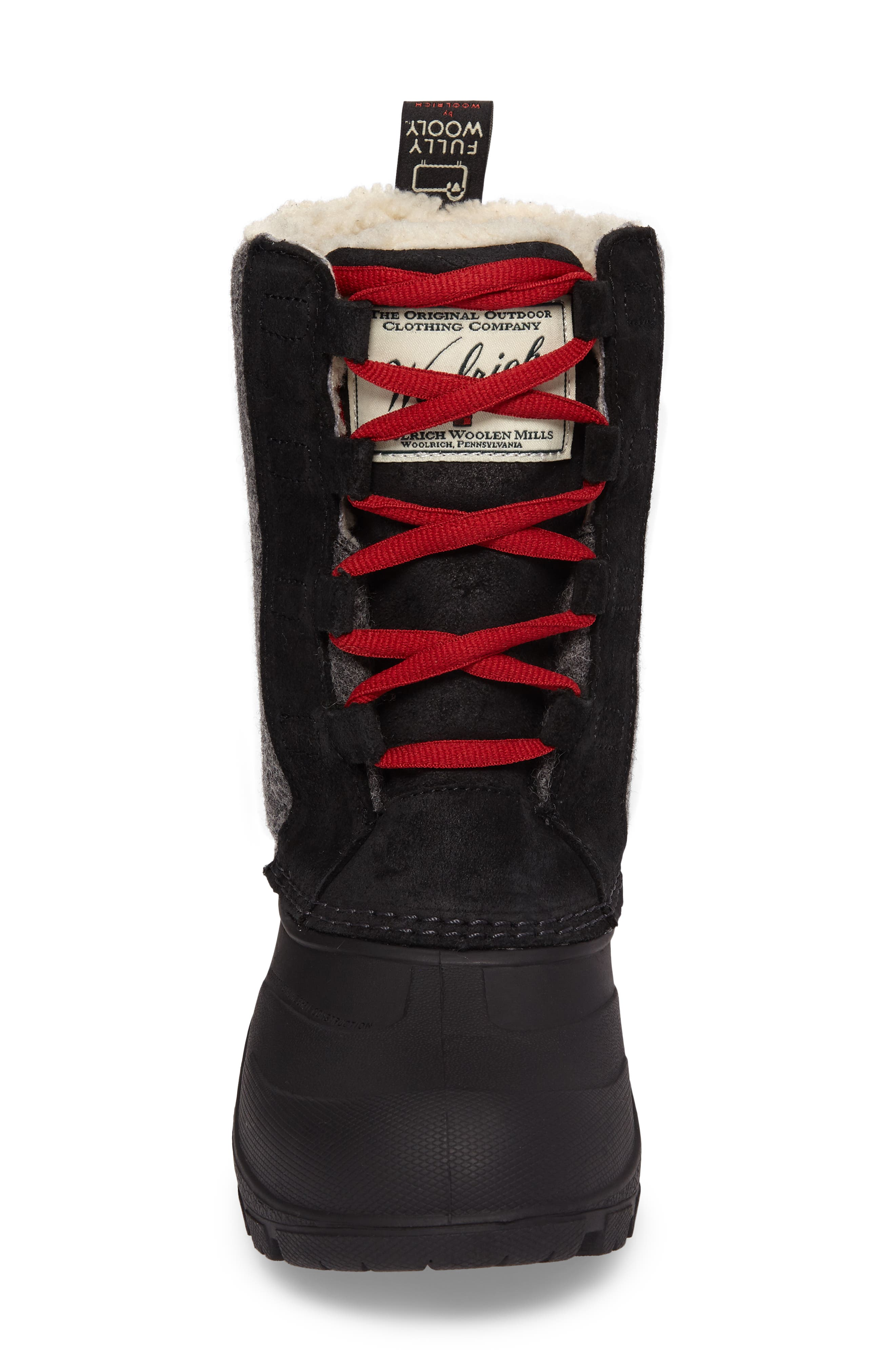 Fully Wooly Tundracat Waterproof Insulated Winter Boot,                             Alternate thumbnail 4, color,                             Black Leather