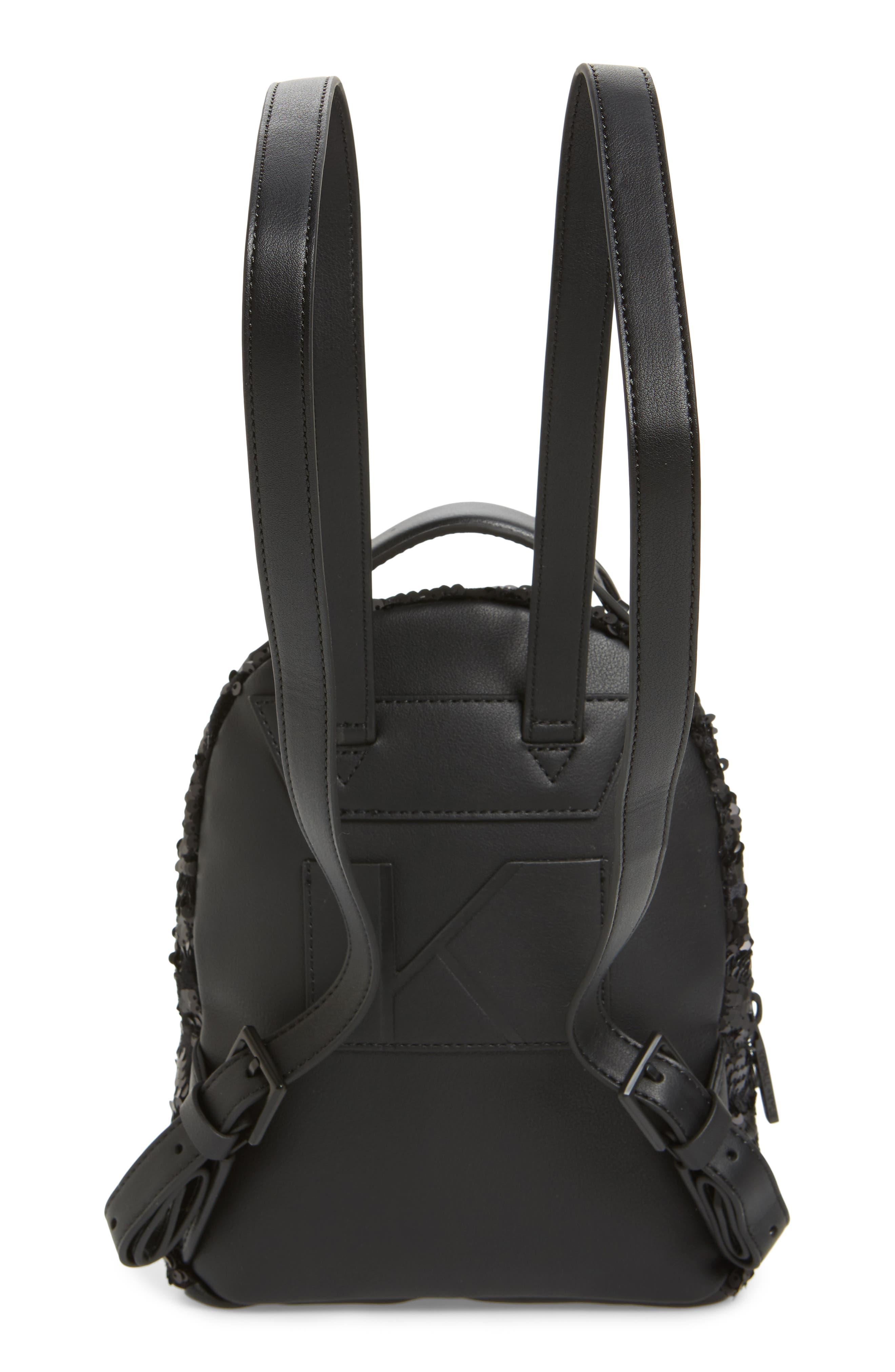 Mini Sloane Velvet & Sequin Backpack,                             Alternate thumbnail 2, color,                             Black Sequins