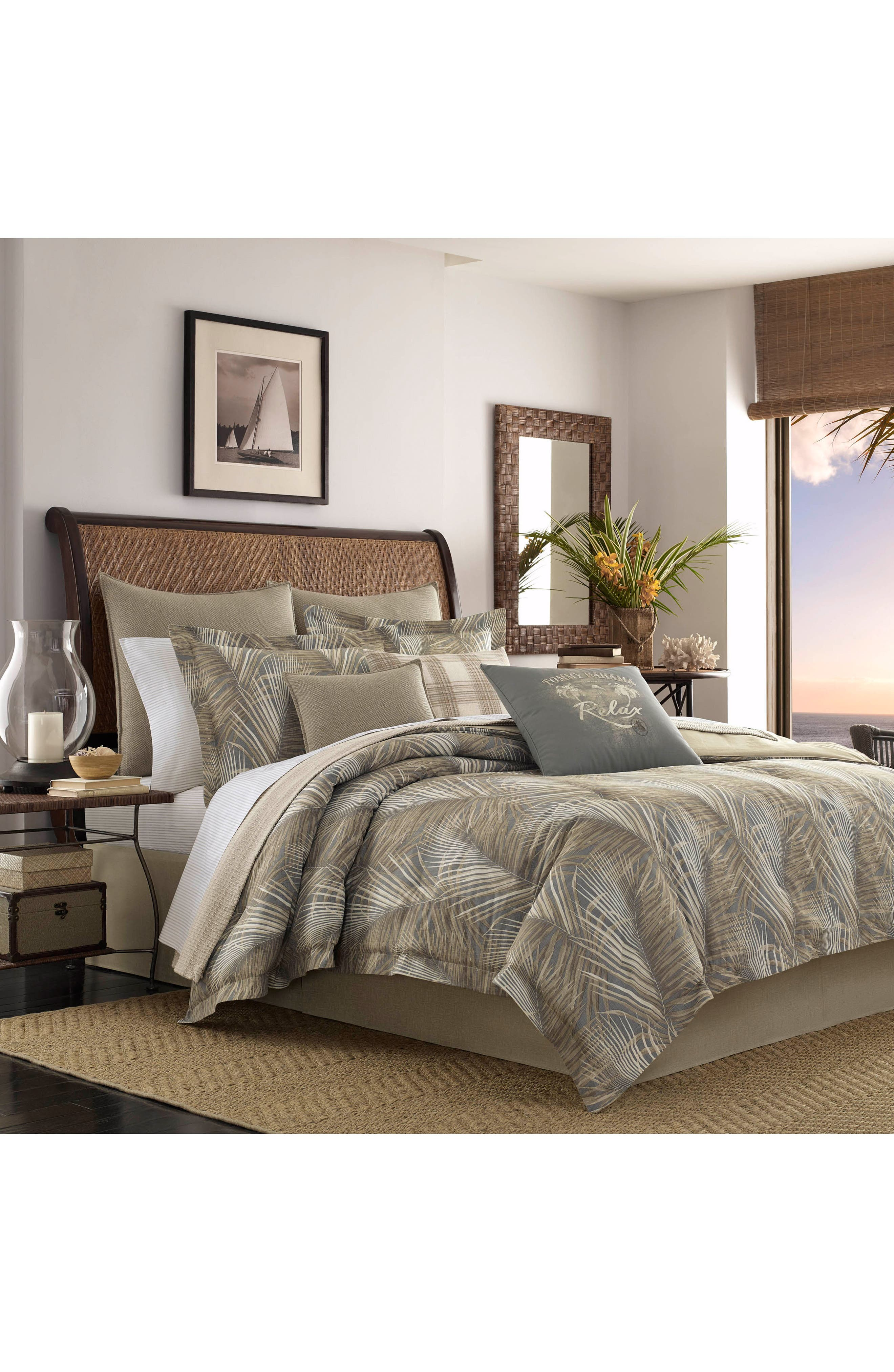 Alternate Image 2  - Tommy Bahama Raffia Palms Comforter & Sham Set
