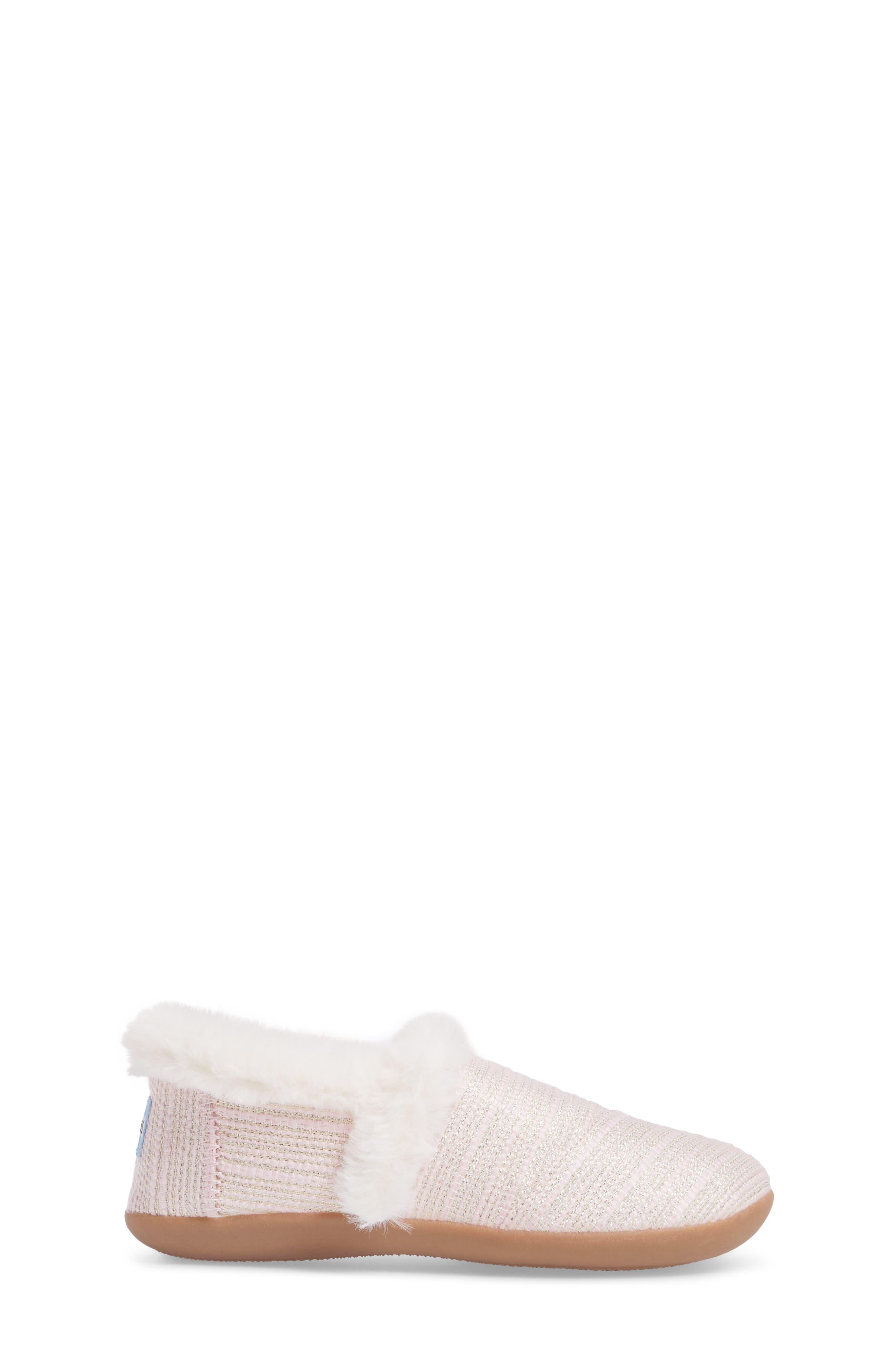 Slipper,                             Alternate thumbnail 3, color,                             Pink Metallic Woven