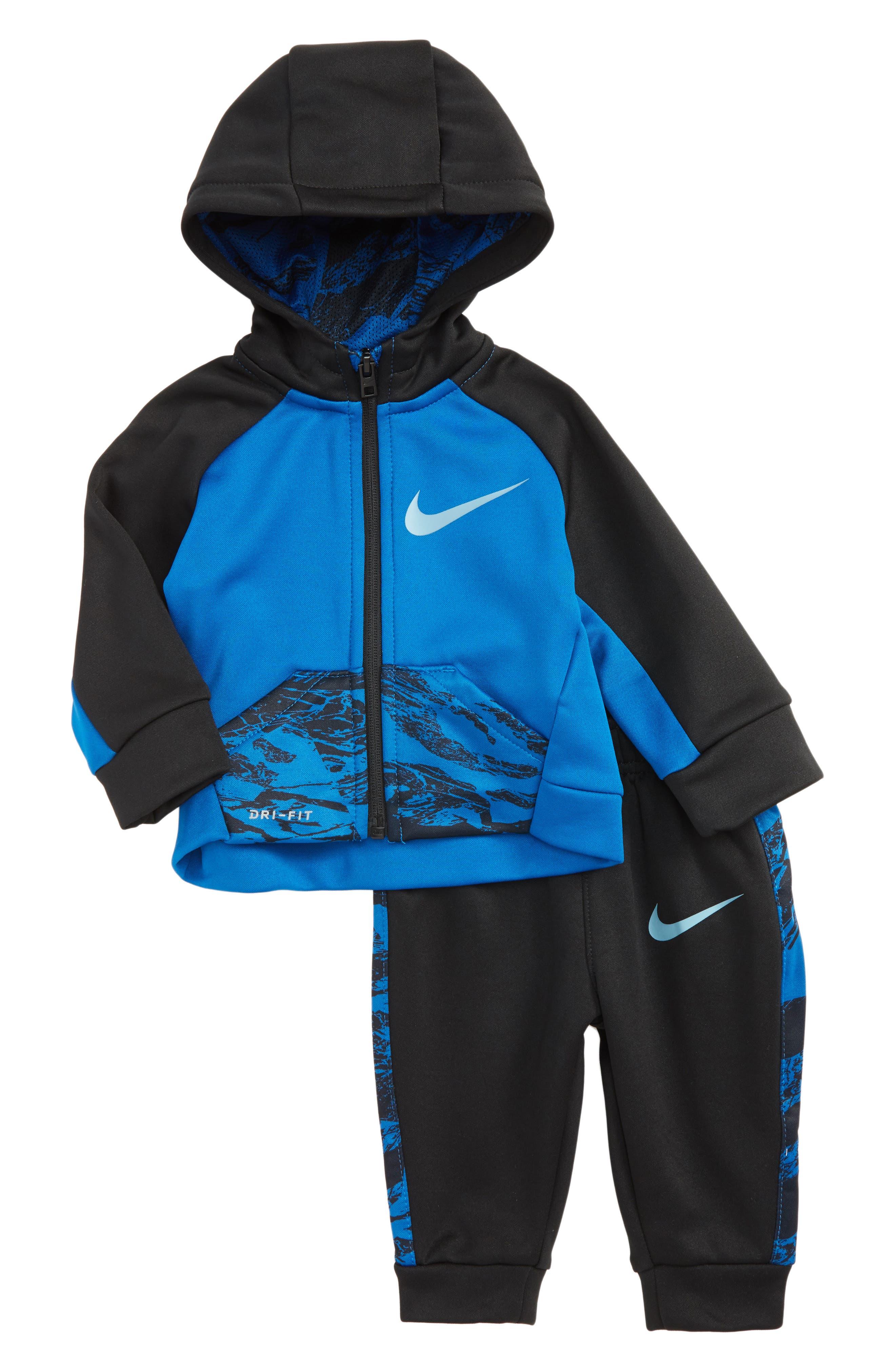 Therma-FIT Hoodie & Sweatpants Set,                         Main,                         color, Blue Jay