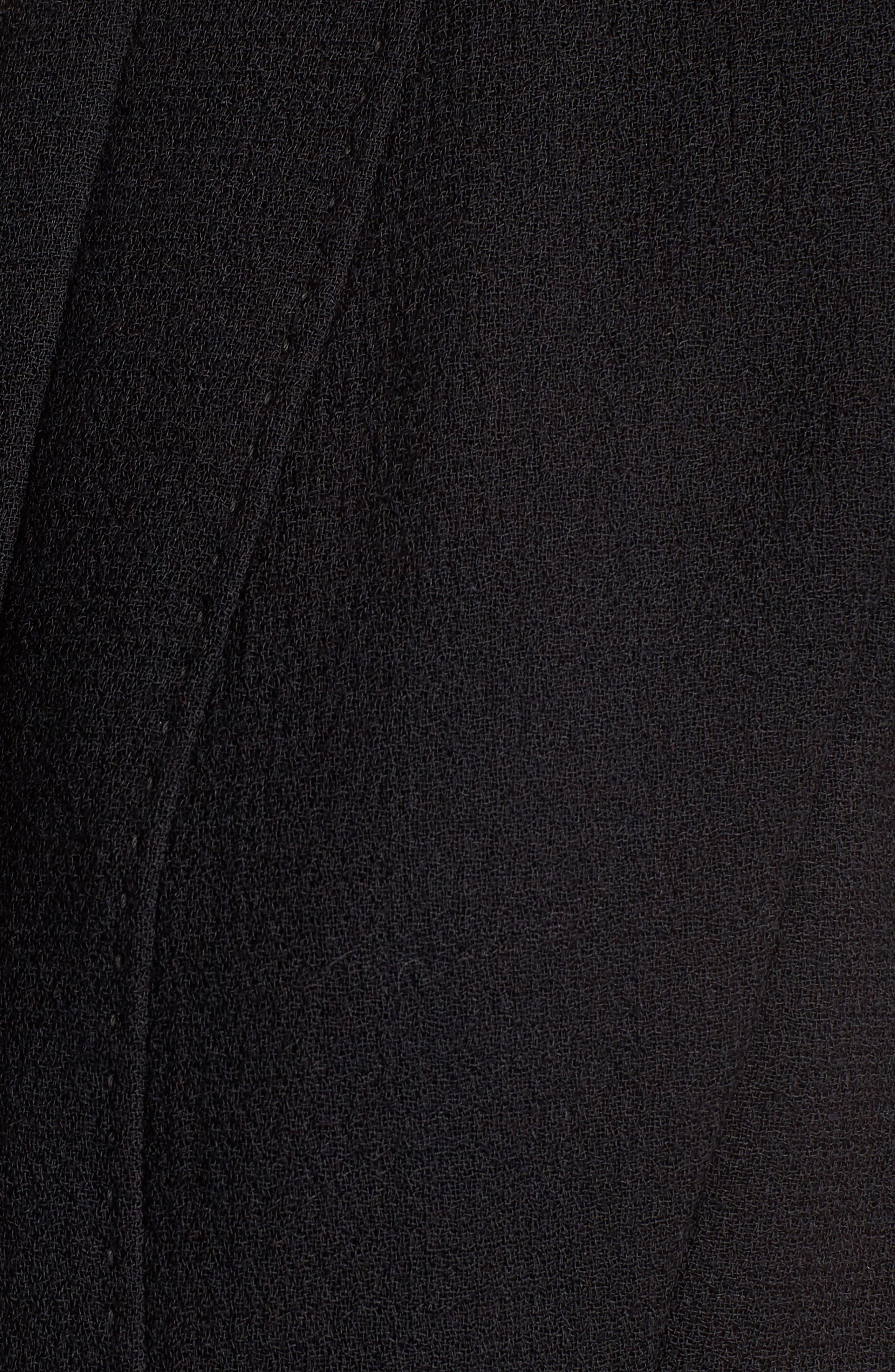 Celinda Nouveau Crepe Dress,                             Alternate thumbnail 4, color,                             Black