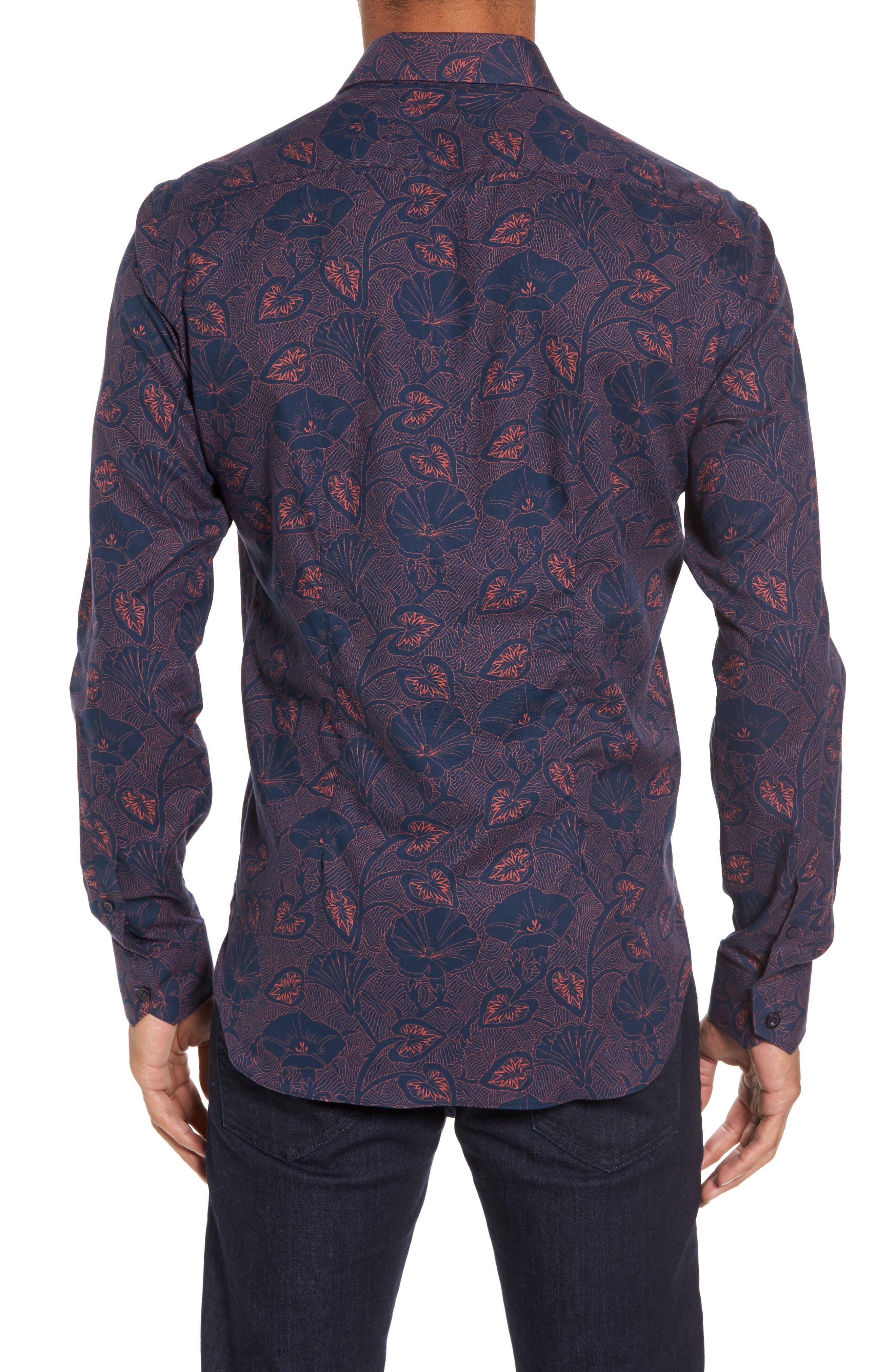 Alternate Image 2  - Culturata Floral Twill Sport Shirt