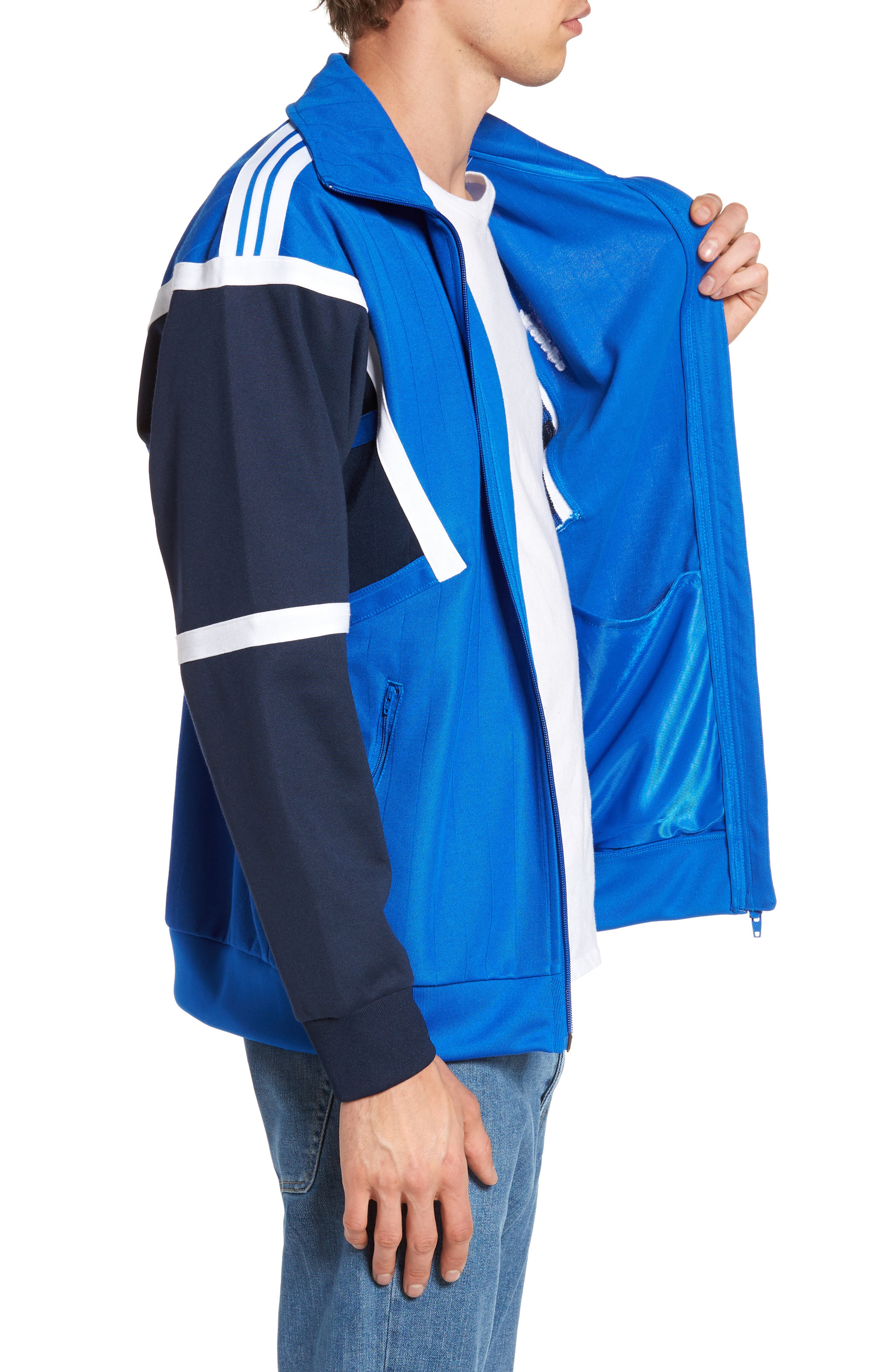 Water Resistant Training Track Jacket,                             Alternate thumbnail 3, color,                             Blue